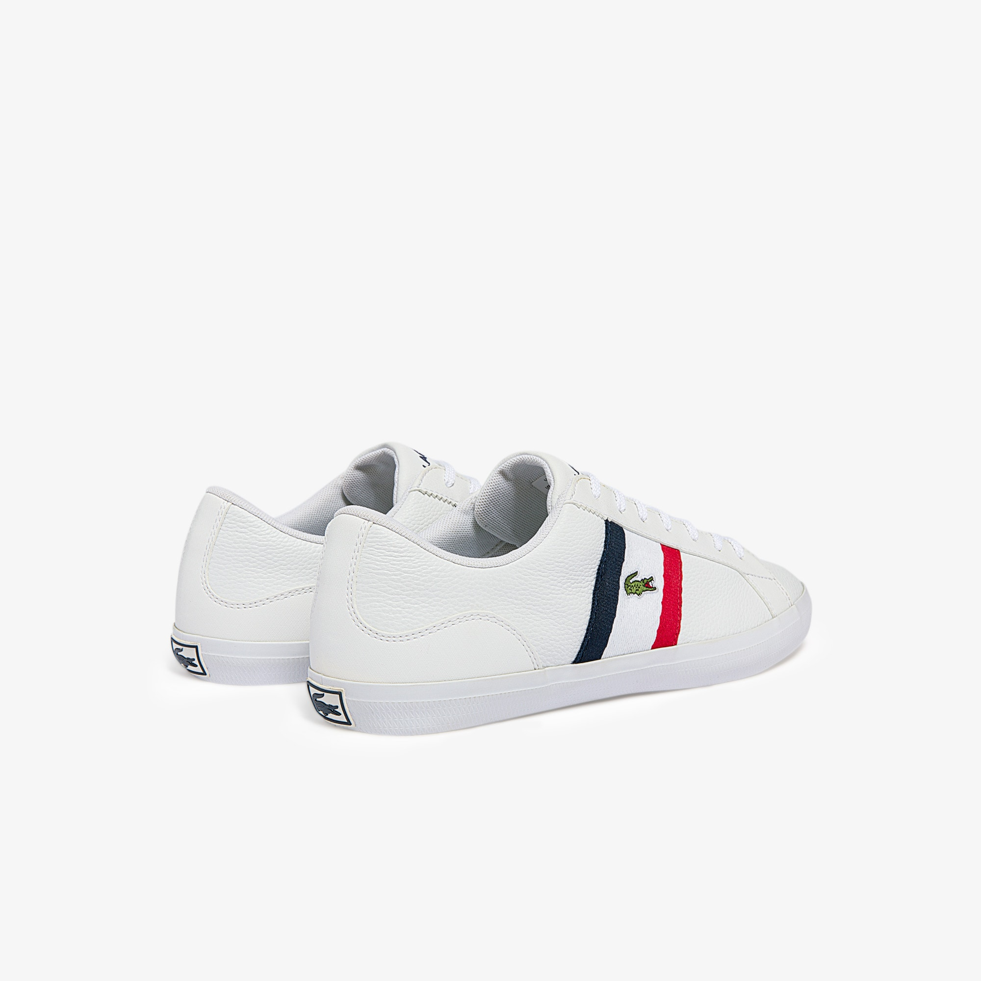 Lerond Tumbled Leather Trainers | LACOSTE