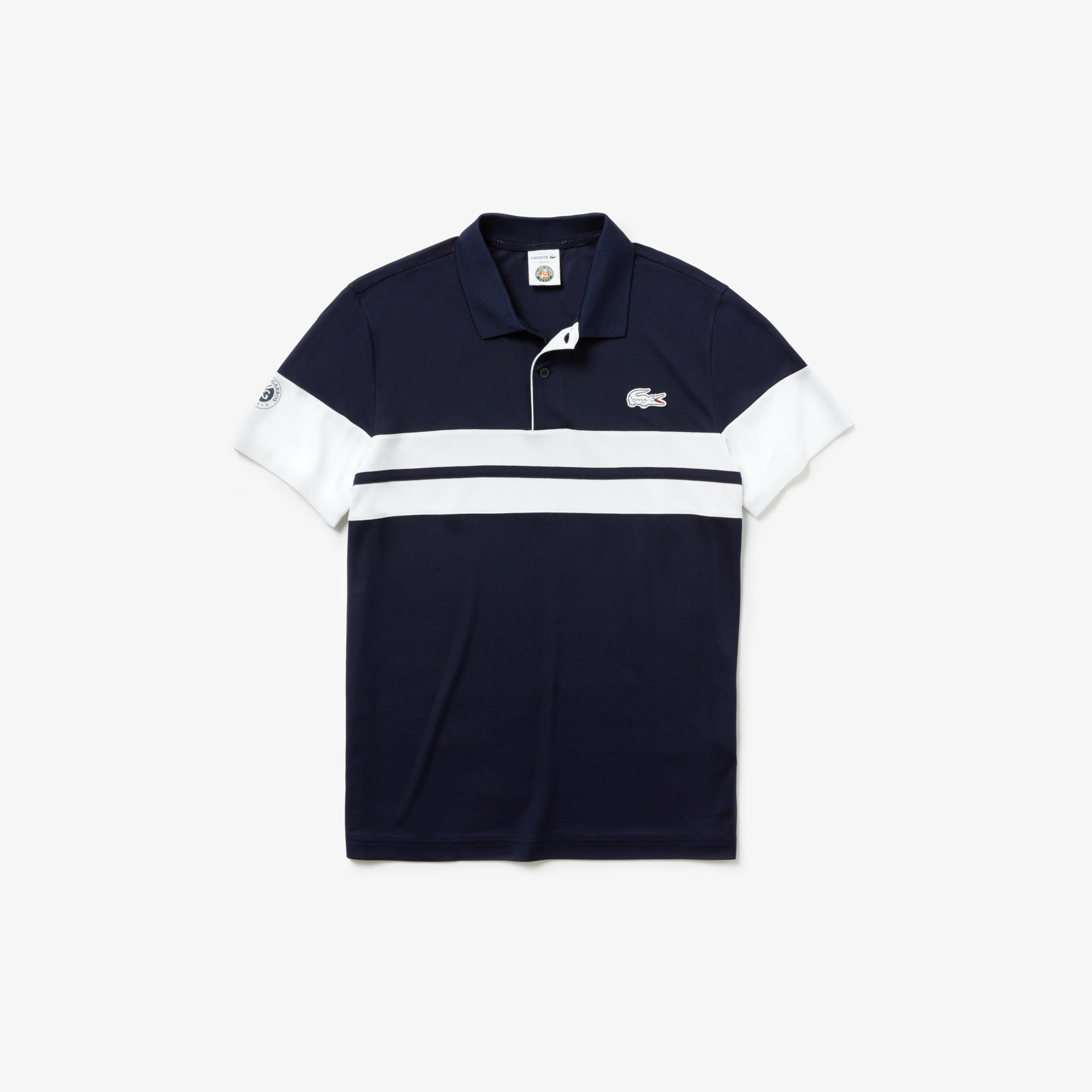 Men's Lacoste SPORT French Open Edition Striped Tech Piqué Polo Shirt
