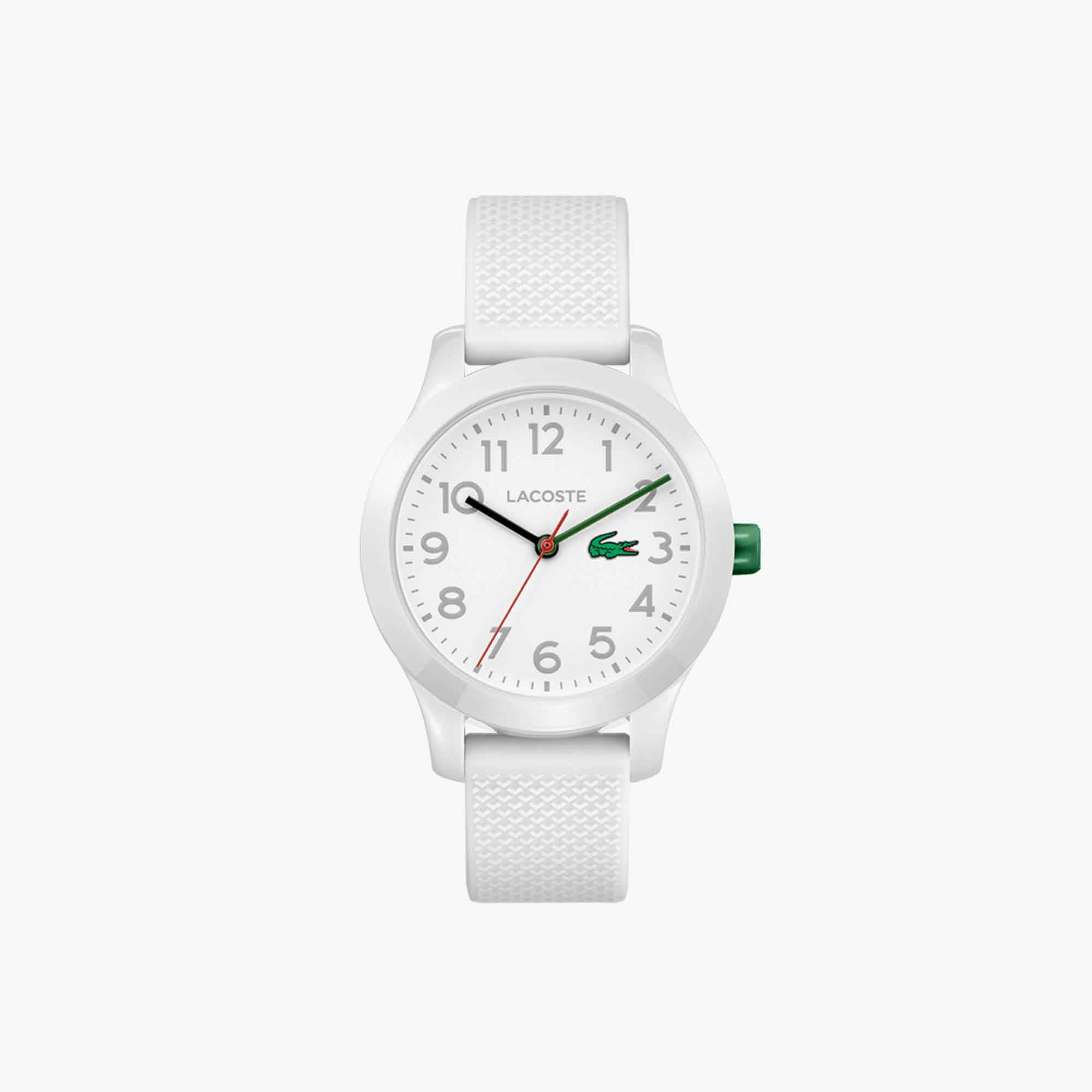 Child's Lacoste 12.12 Watch with White Silicone Strap