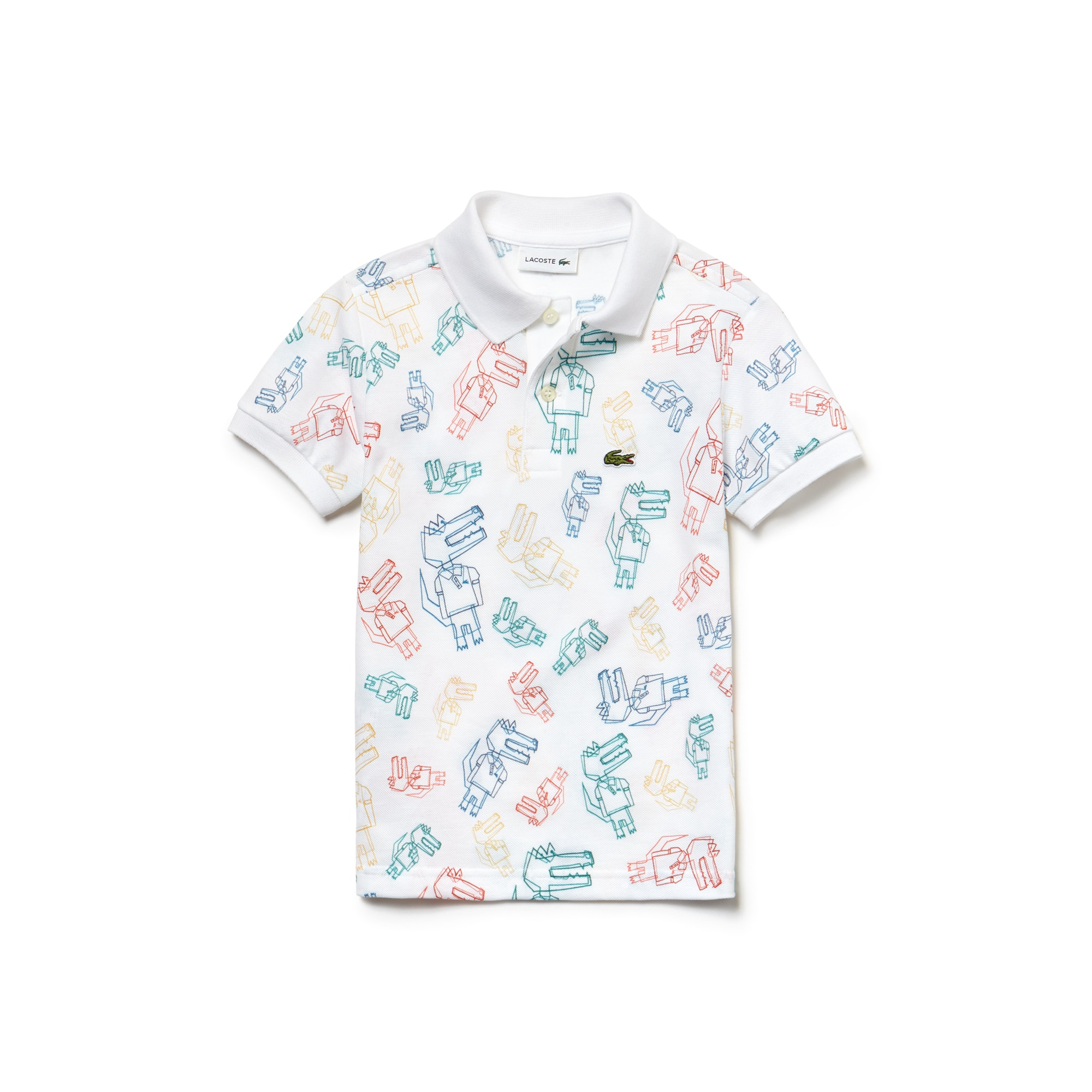 Boys' Lacoste Print Mini Piqué Polo Shirt