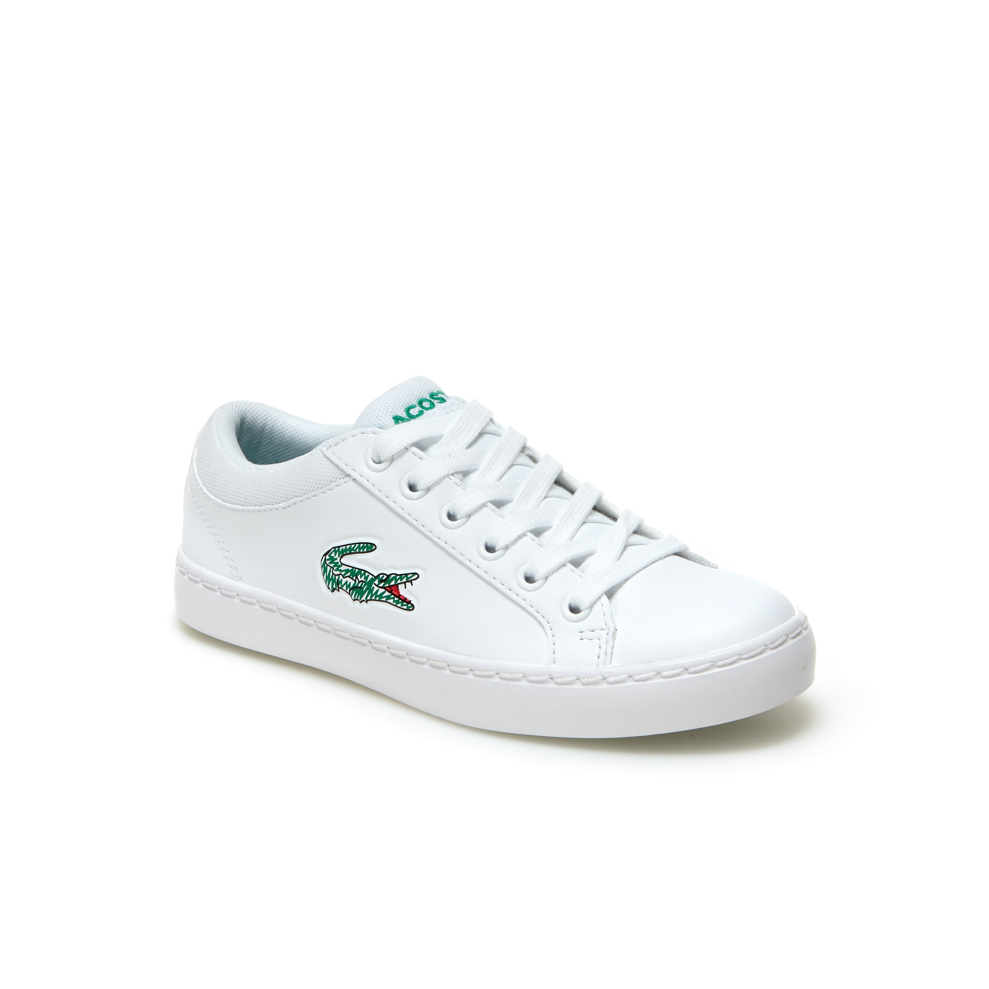 Childrens' Straightset Lace Leather-look Trainers