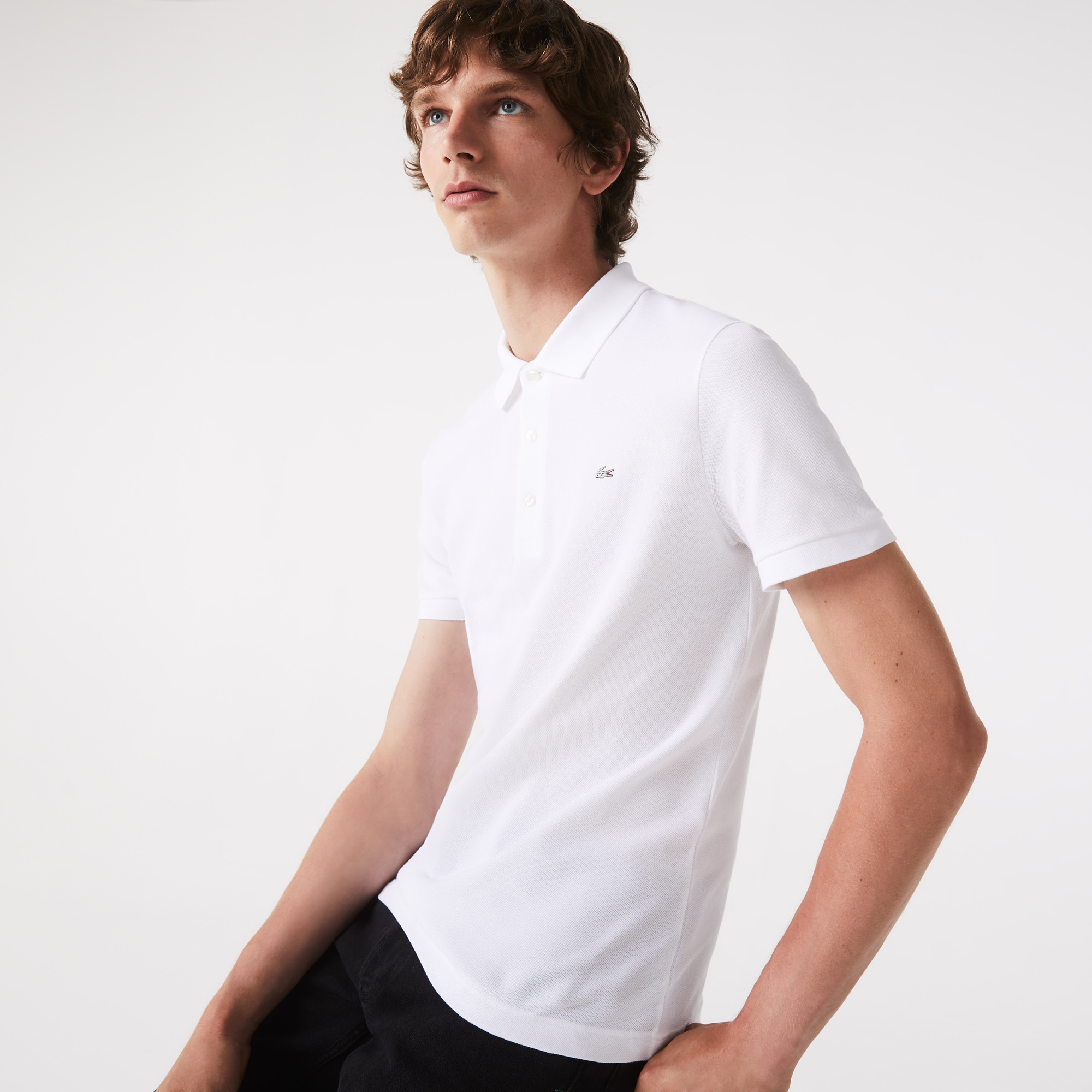 Men's Slim fit Lacoste polo in stretch petit piqué