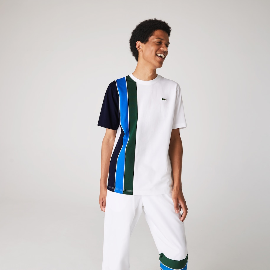 Men's Lacoste SPORT Colourblock Paneled Lightweight Cotton T-shirt