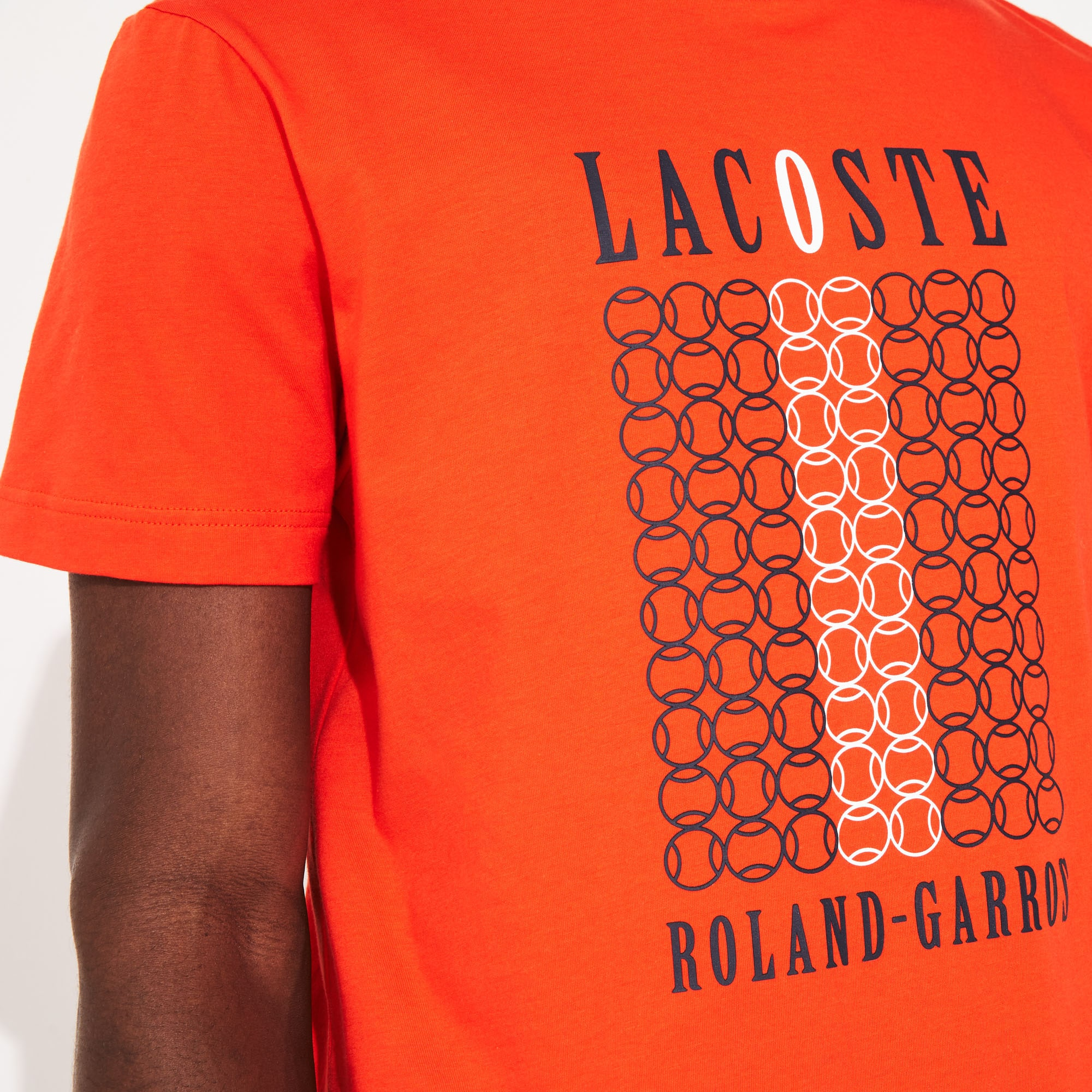 Men's Lacoste SPORT French Open Edition Tennis Ball Print T-shirt