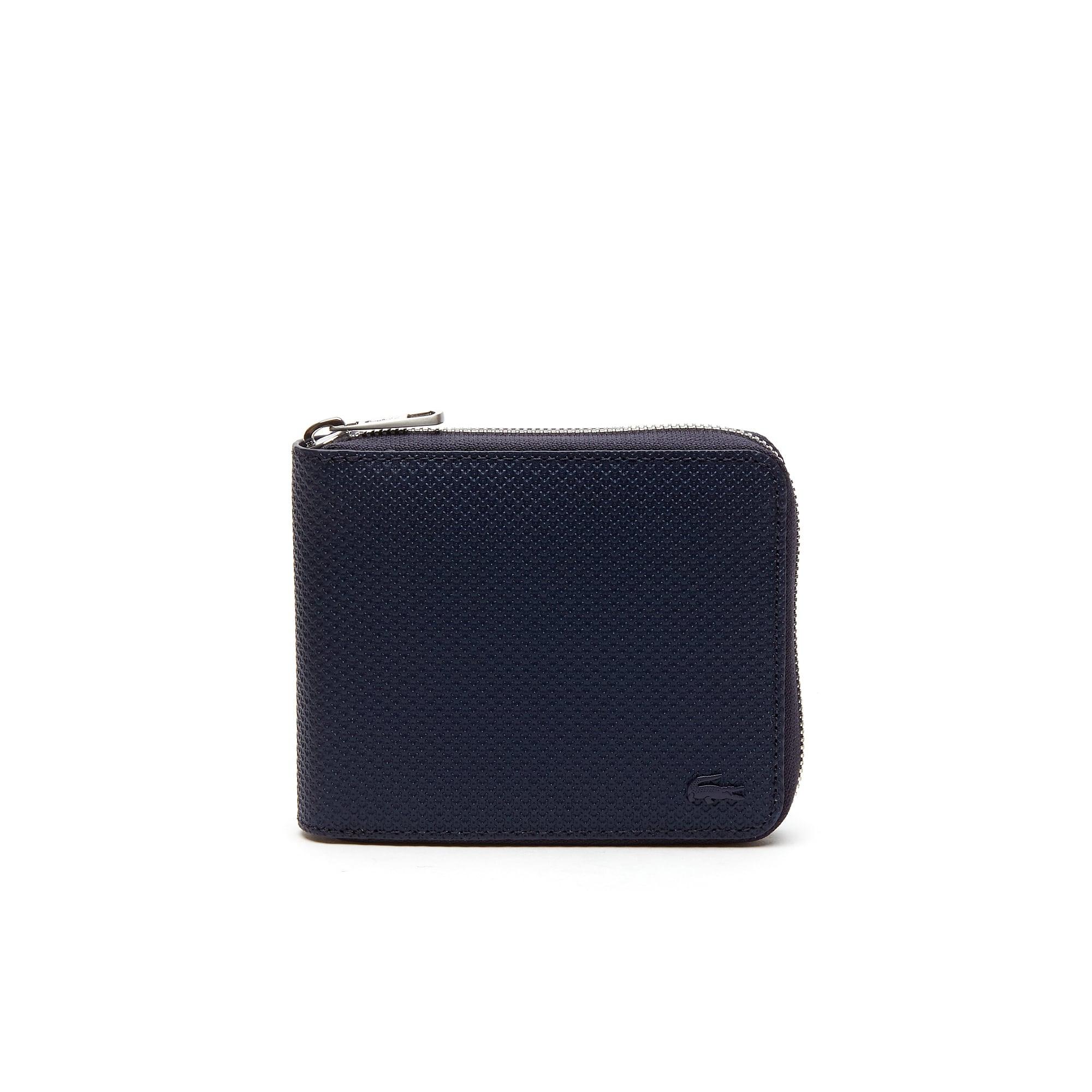 Men's Chantaco Piqué Leather 8 Card Zip Wallet