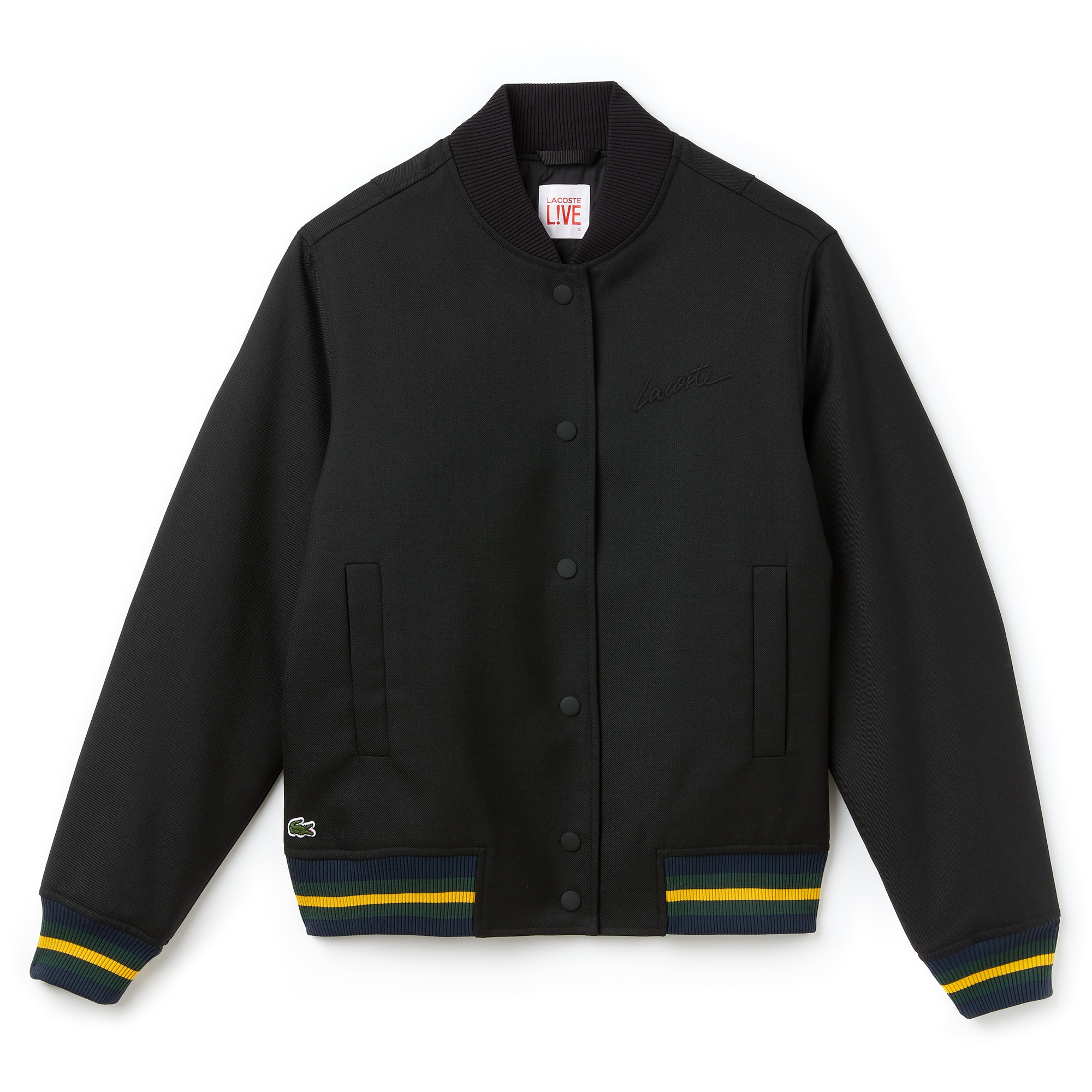 Women's Contrast Accents Wool Twill Bomber Jacket
