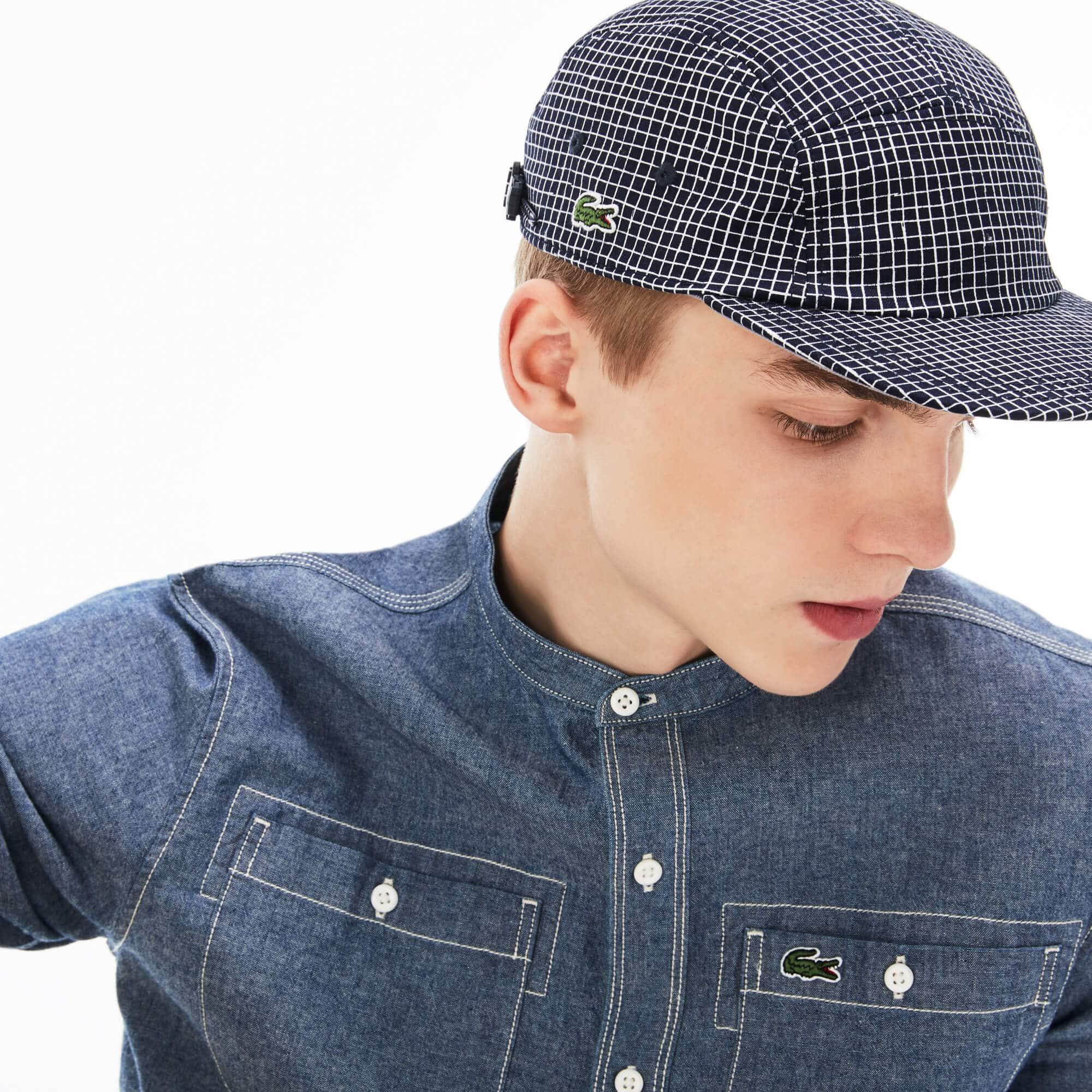 Men's Lacoste LIVE Mini Check Cotton Twill Cap