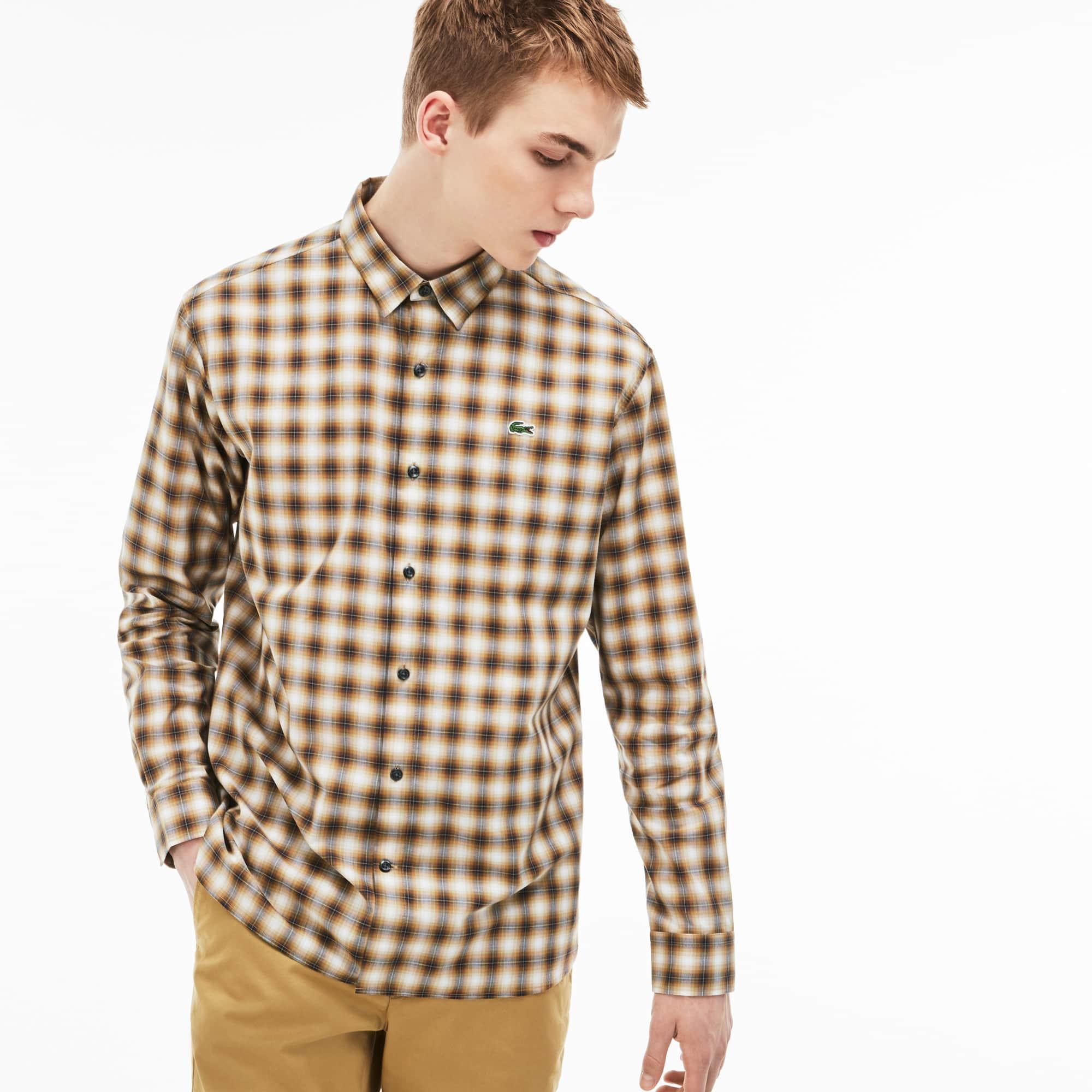 Men's Lacoste LIVE Boxy Fit Check Poplin Shirt