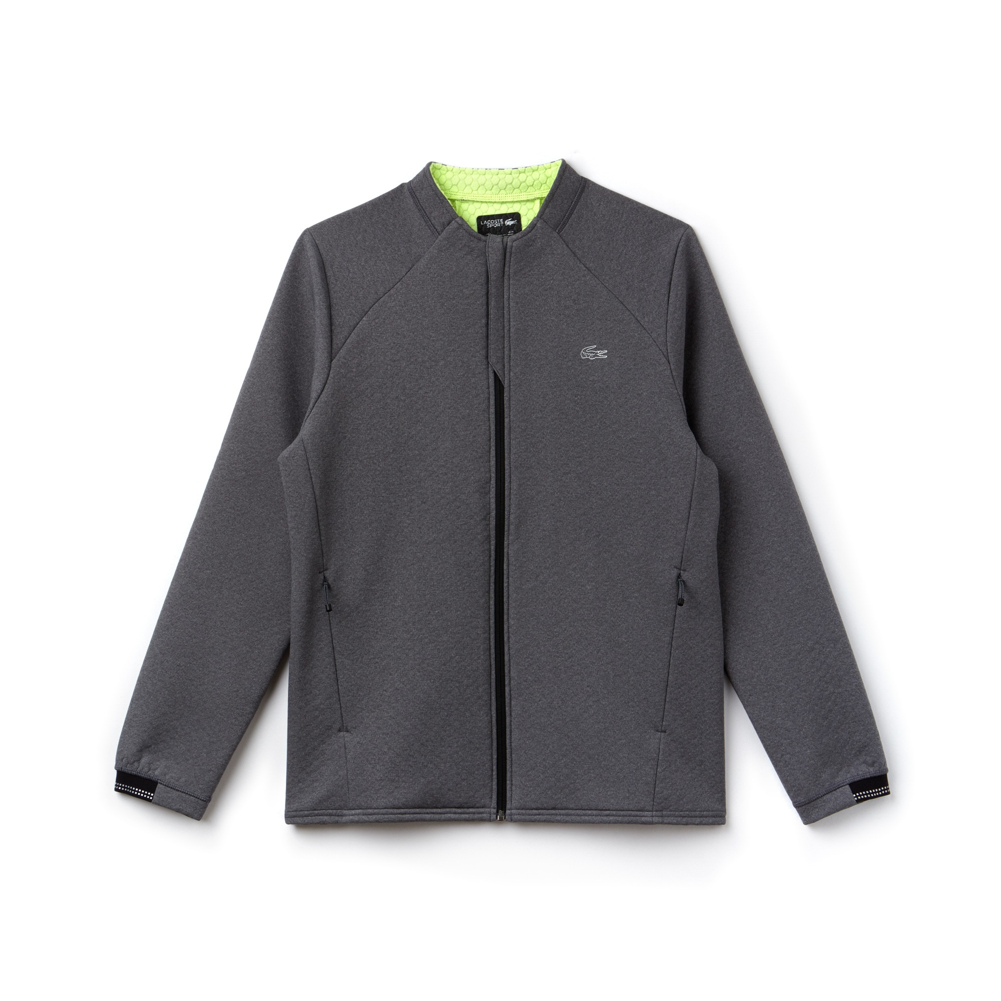 Men's Lacoste SPORT Fleece Midlayer Zip Tennis Sweatshirt