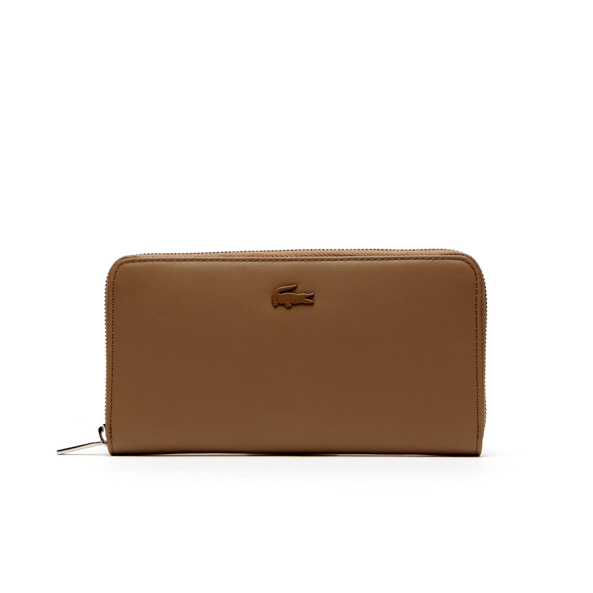 Women's Purity Soft Monochrome Leather 8 Card Zip Wallet
