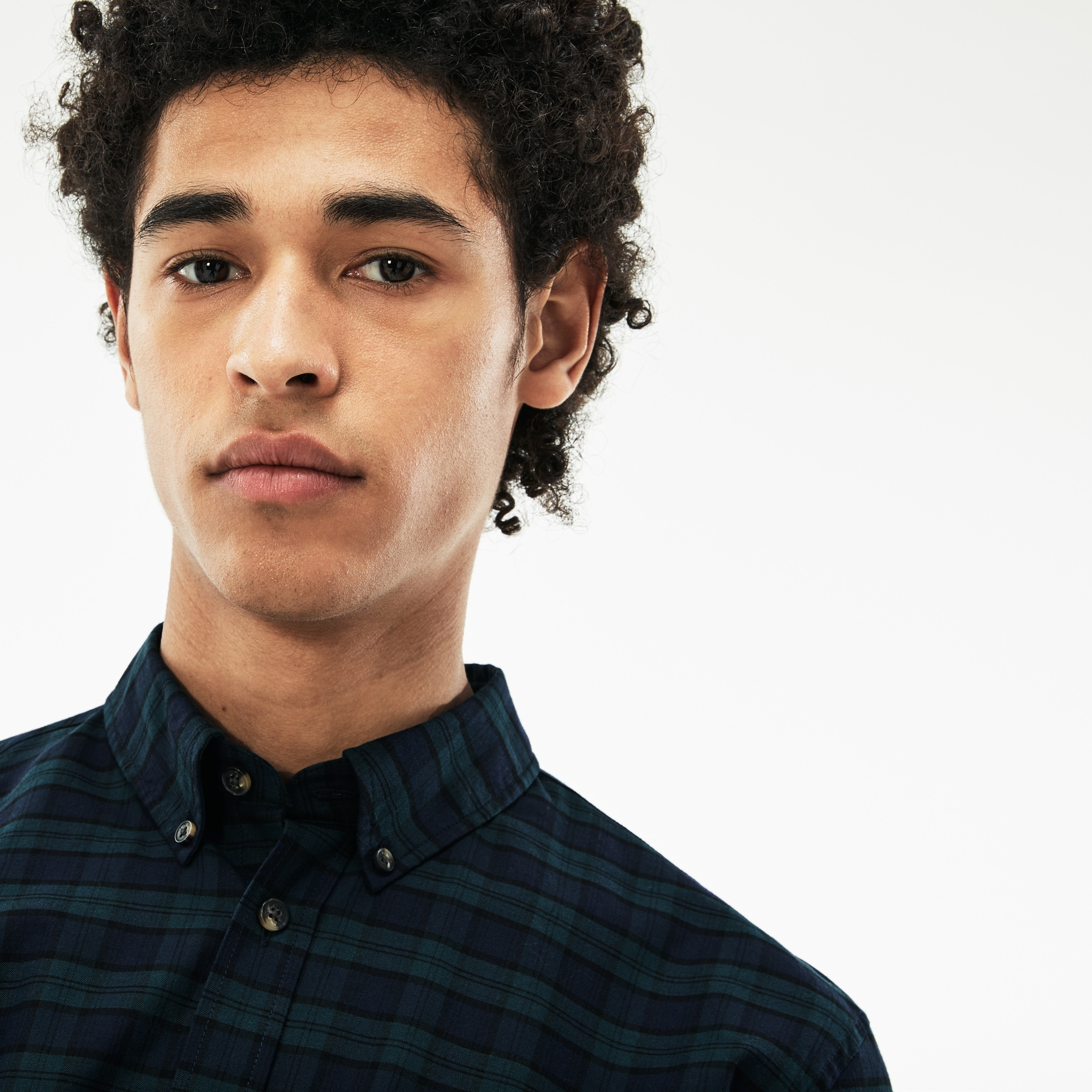 Men's Lacoste Motion Regular Fit Check Cotton Twill Shirt
