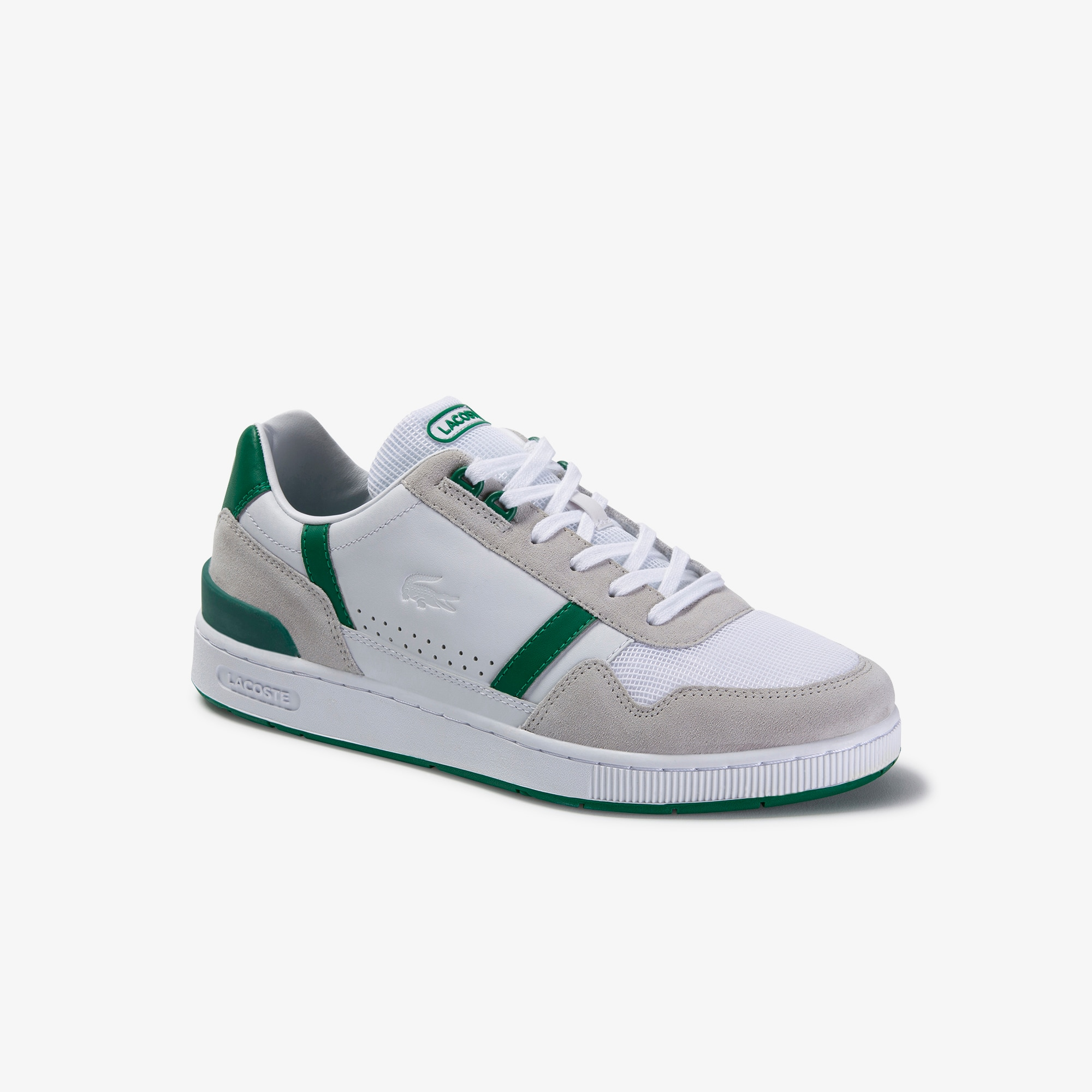 Men's T-Clip Leather and Suede Trainers