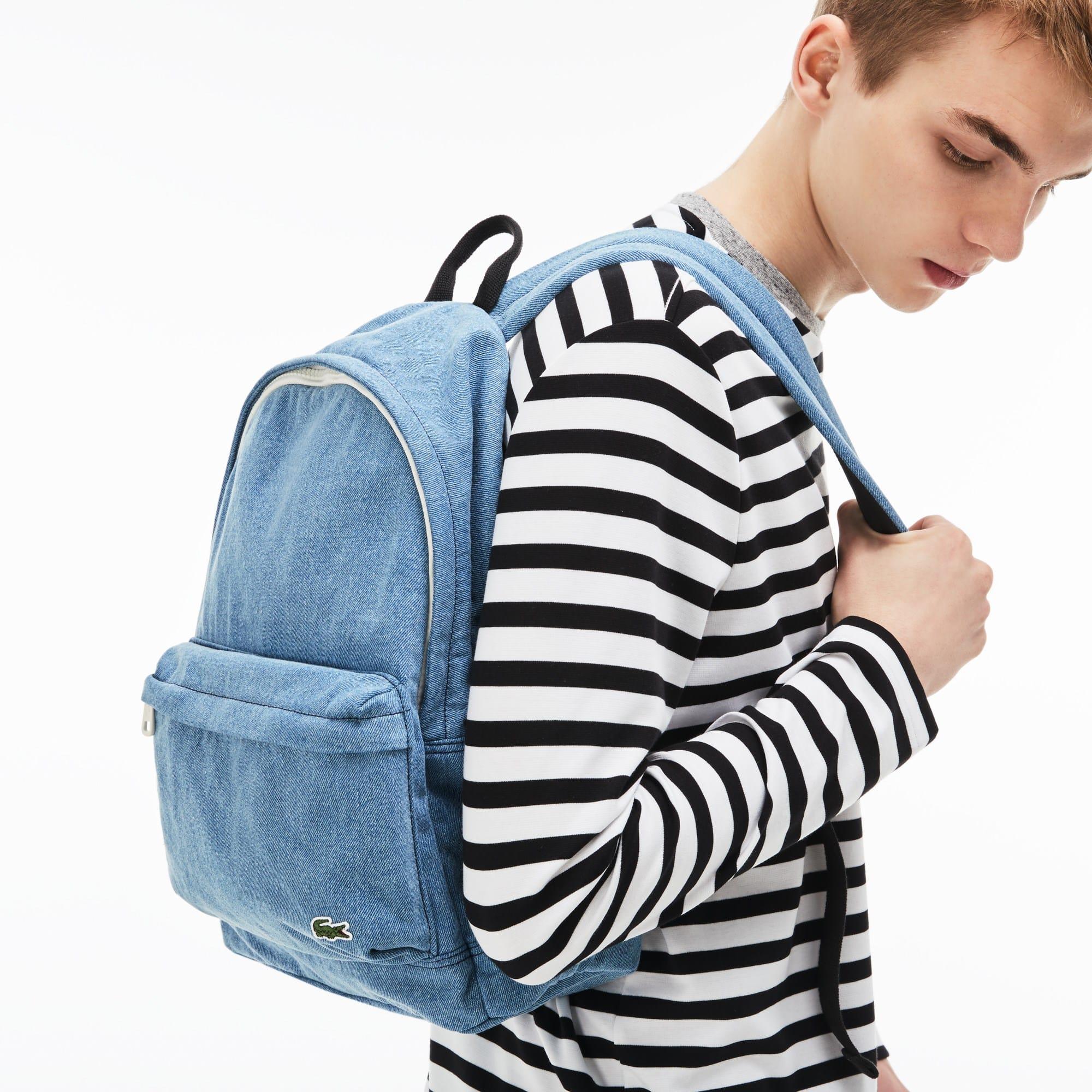 Men's Street Live Denim Effect Cotton Backpack