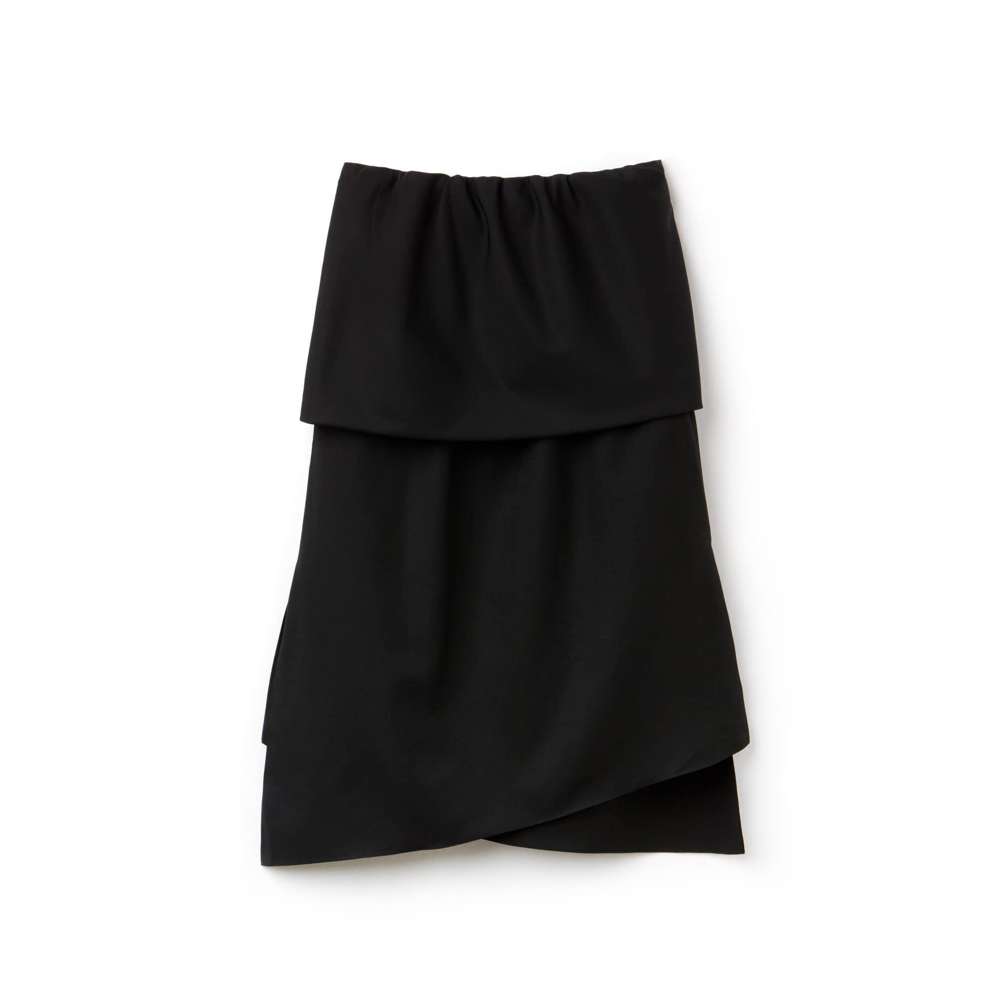 Women's Fashion Show Asymmetrical Twisted Tech Taffeta Skirt