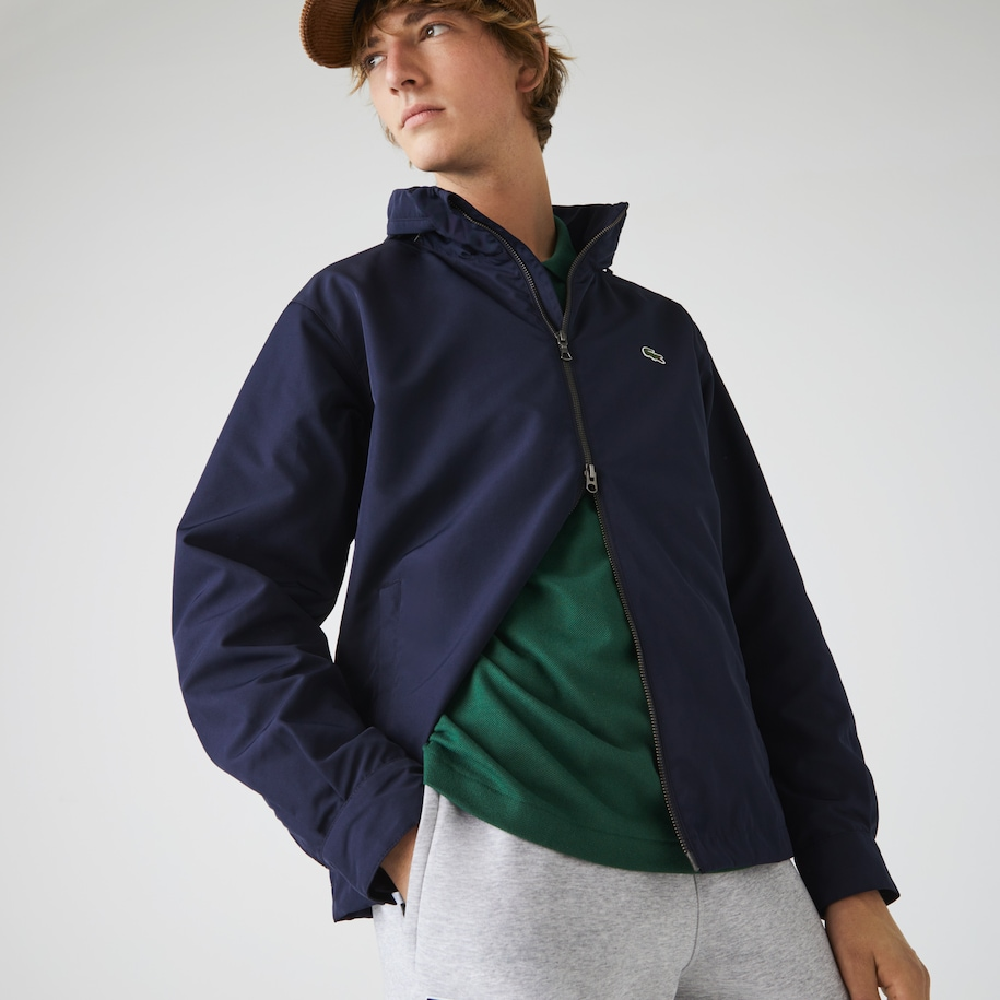 Men's Lightweight Water-Resistant Zip Windbreaker