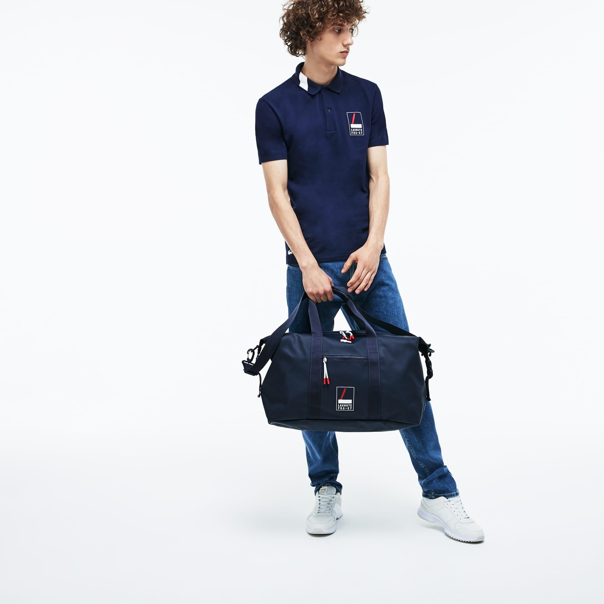 Men's L.12.12 Concept Lacoste Lettering Petit Piqué Weekend Bag