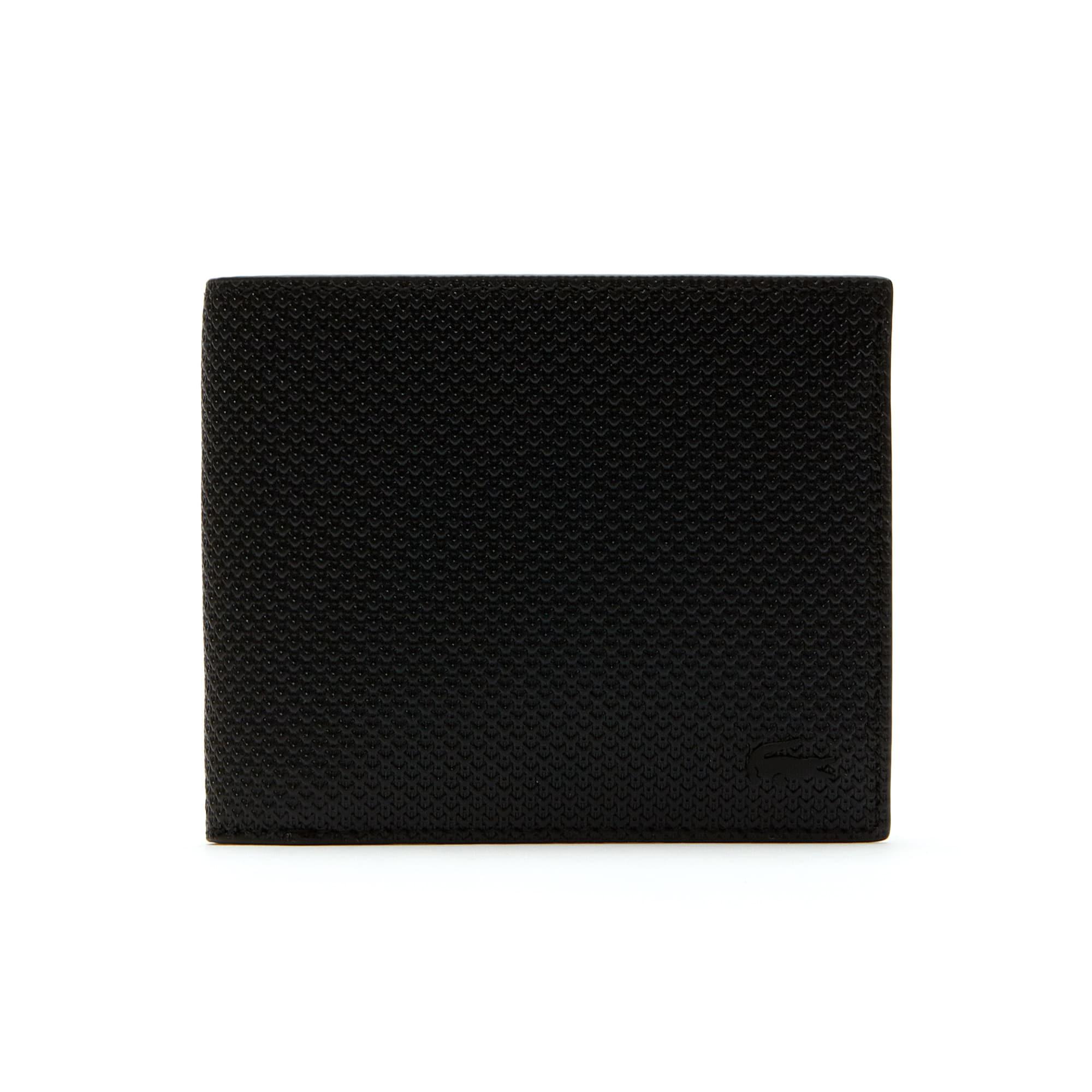 Men's Chantaco Matte Piqué Leather Three Card Wallet