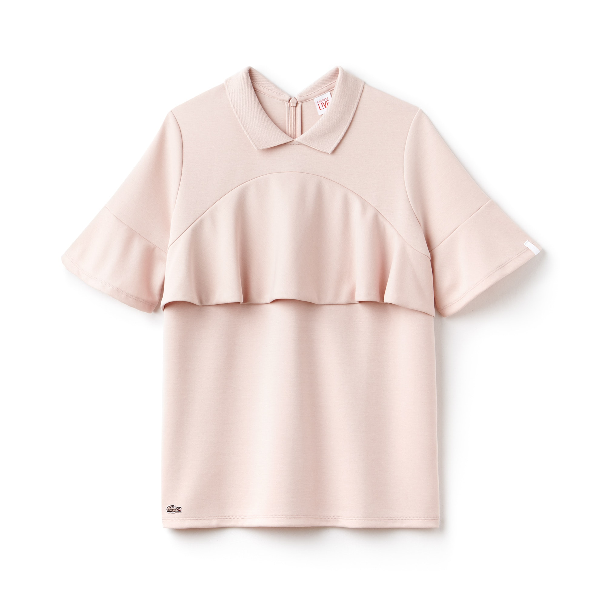 Women's Lacoste LIVE Boxy Fit Flounces Jersey Polo