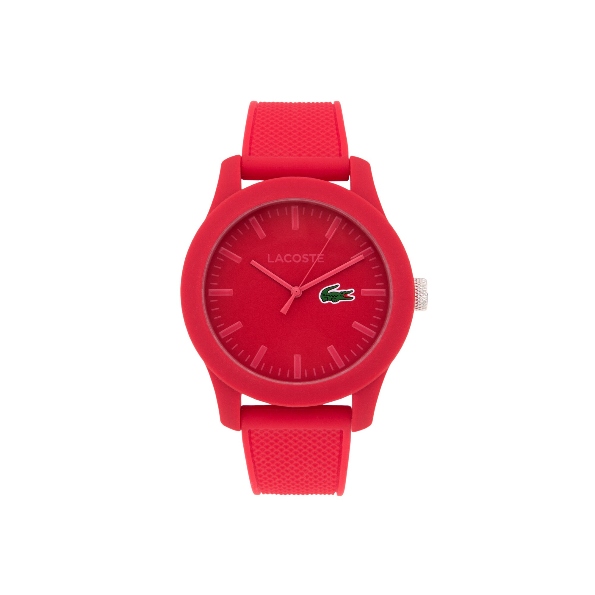 Men's Lacoste 12.12 Watch with Red Silicone Strap
