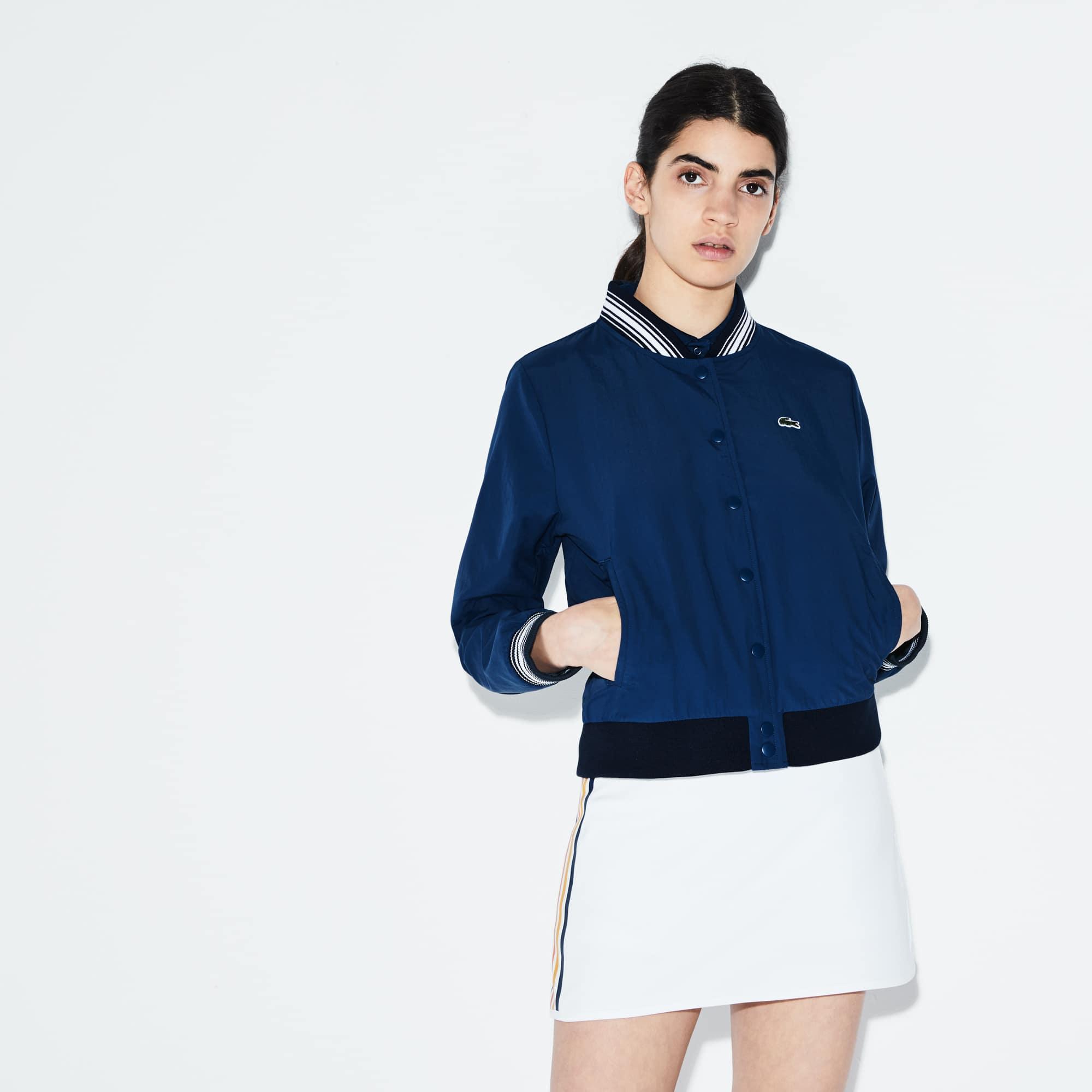 Women's Lacoste SPORT Contrast Accents Taffeta Tennis Bomber