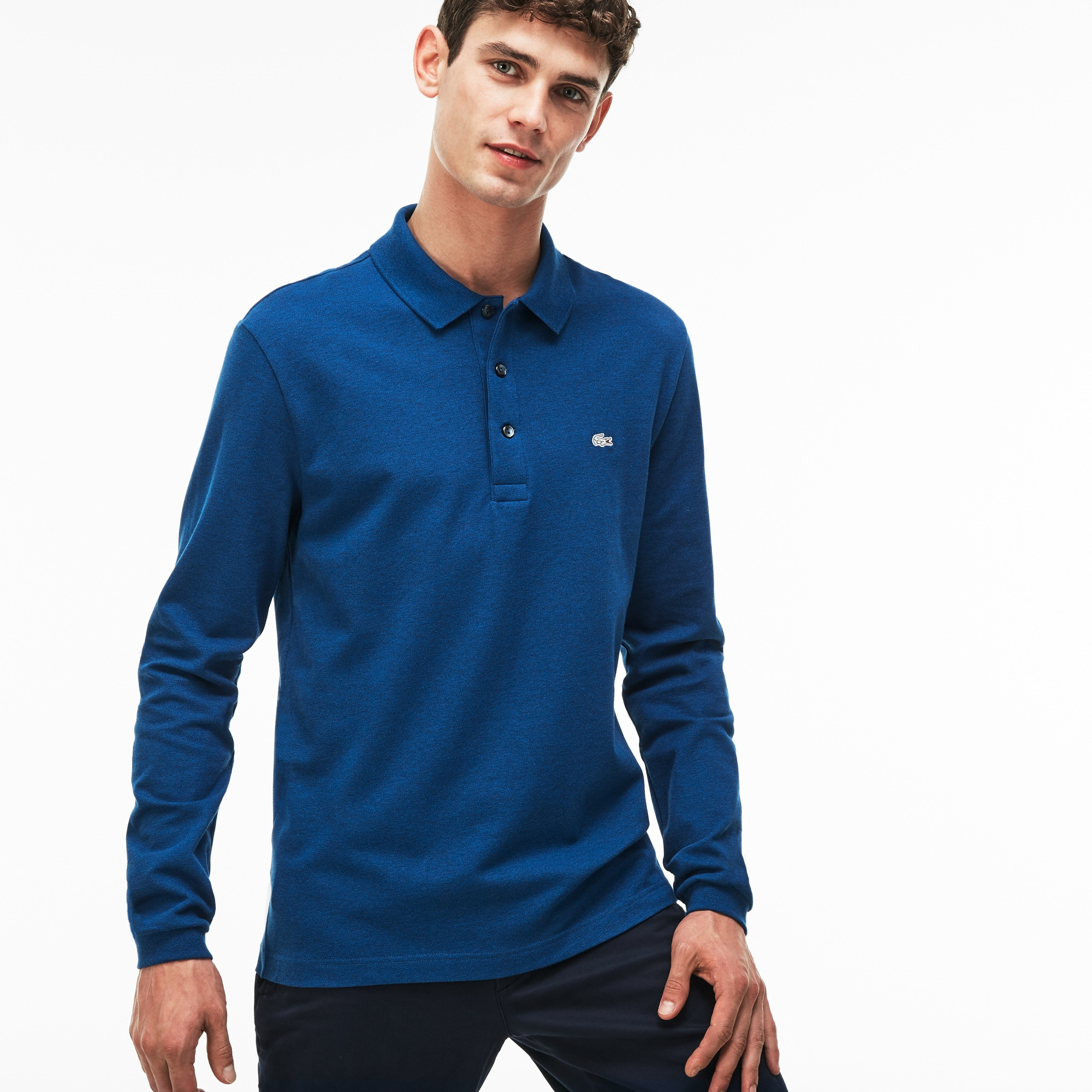 Men's Lacoste Slim Fit Stretch Mini Piqué Polo