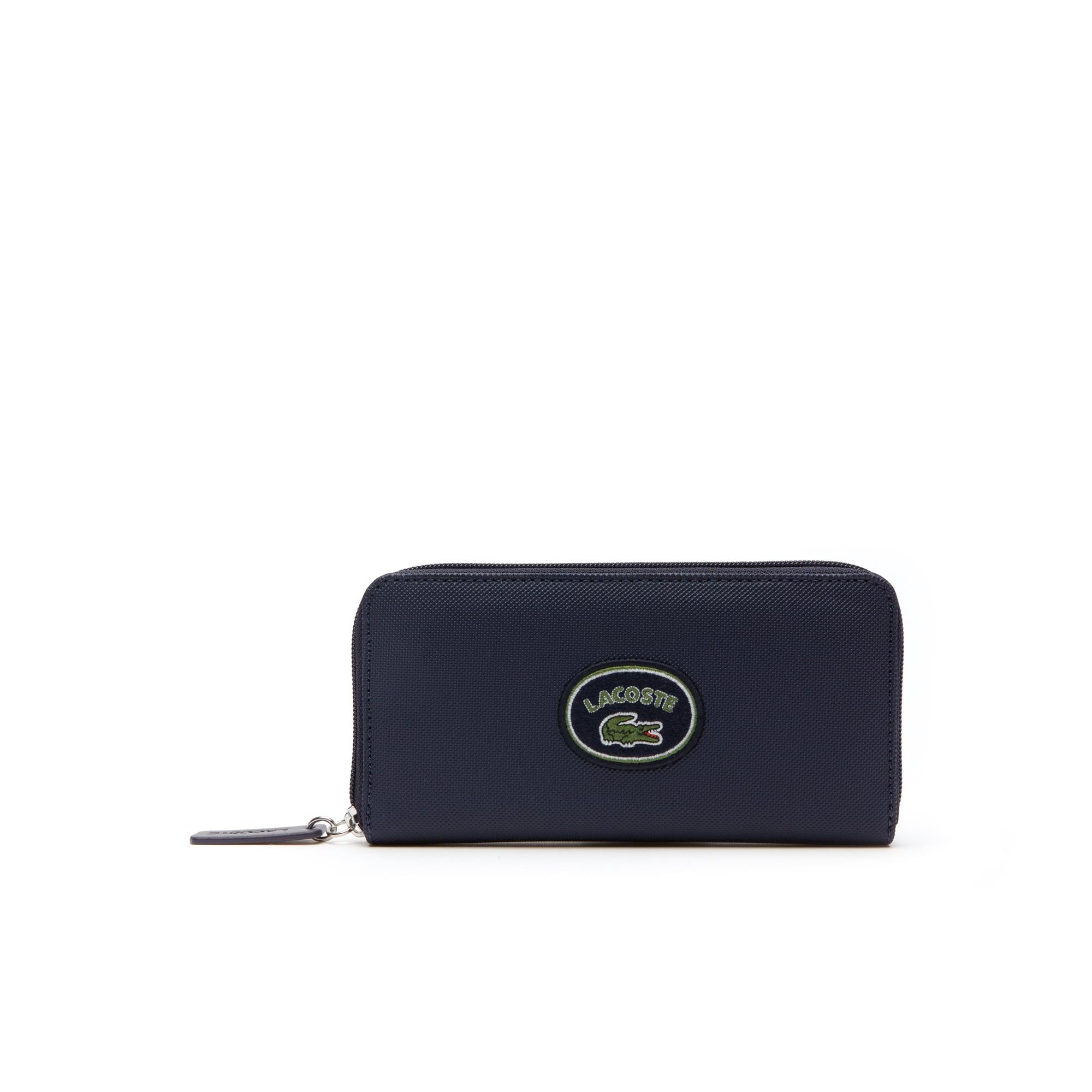 Women's L.12.12 Concept Lacoste Badge Petit Piqué Zip Wallet