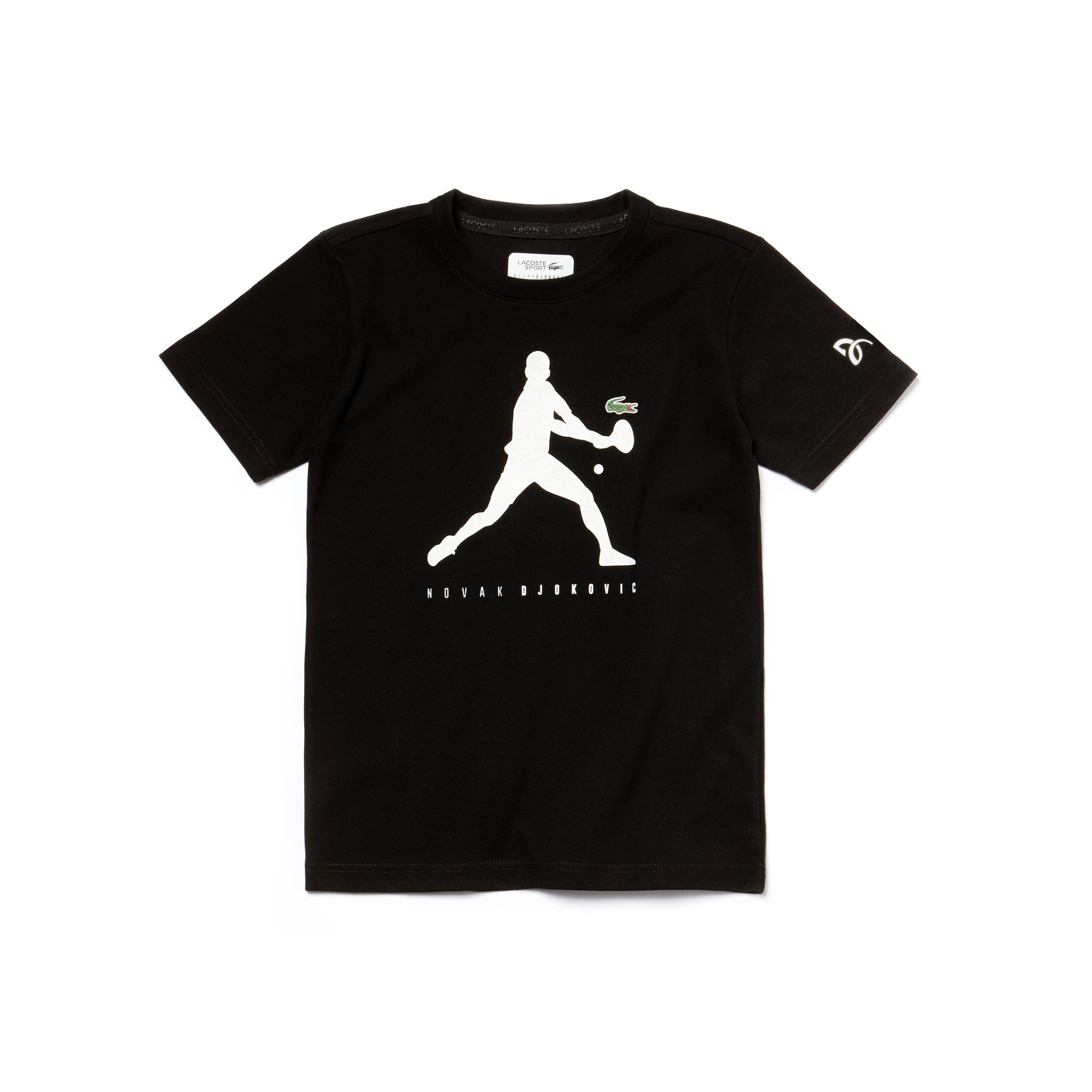 Boys' Lacoste SPORT NOVAK DJOKOVIC SUPPORT WITH STYLE COLLECTION Technical Jersey T-shirt