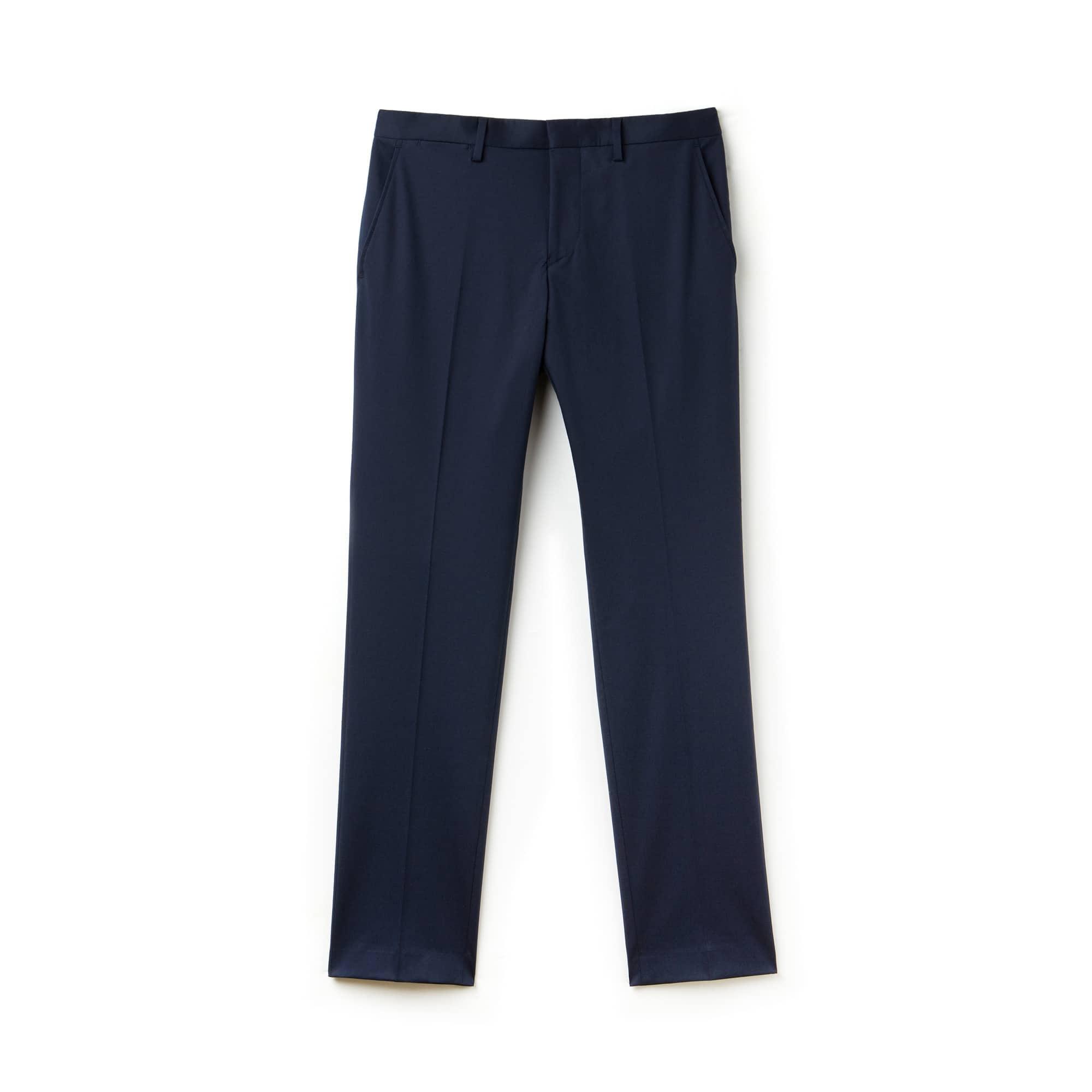 Men's Slim Fit Gabardine Pleated Chino Pants