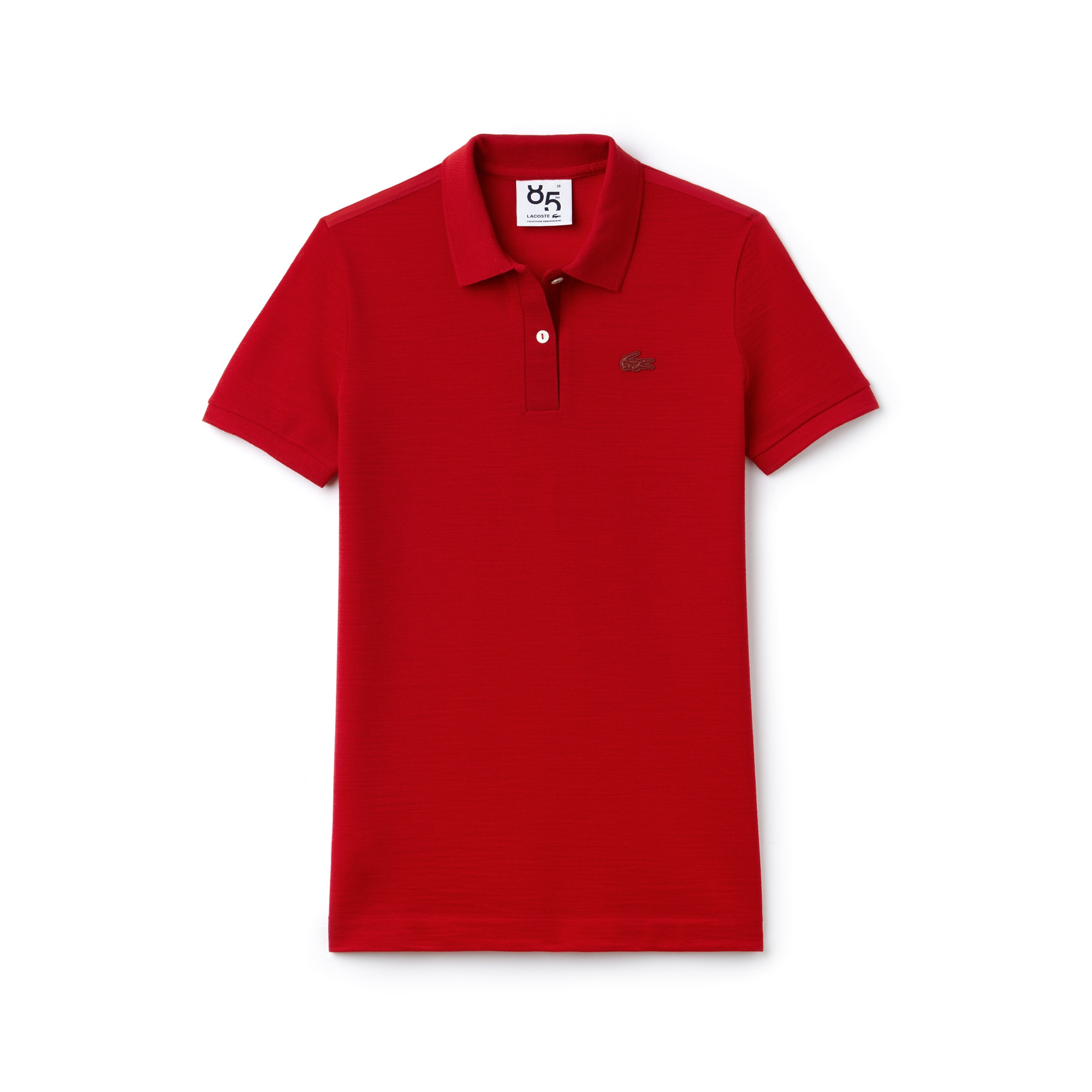 Women's Lacoste 85th Anniversary Limited Edition Classic Fit Wool Piqué Polo Shirt