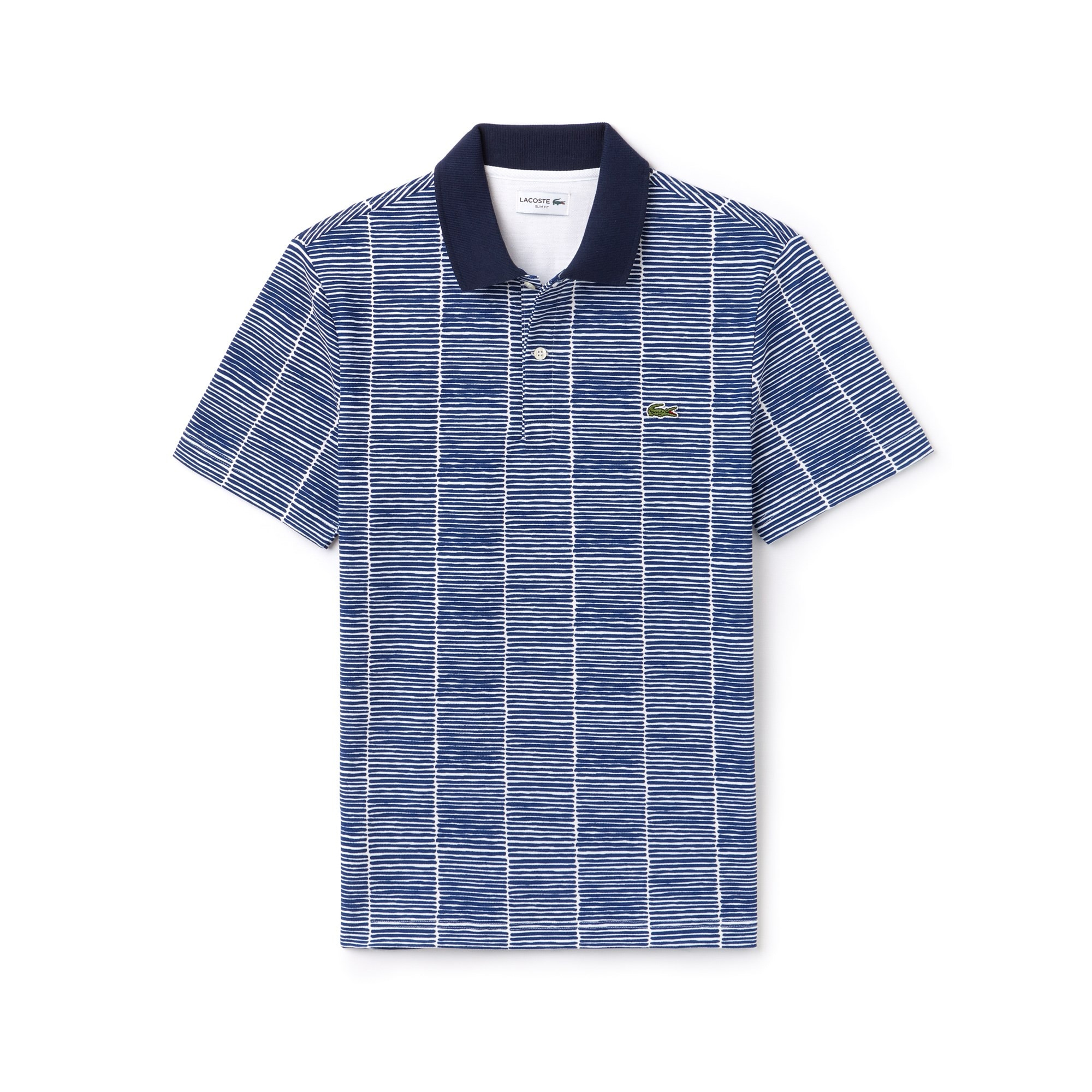 Men's Lacoste Slim Fit Print Cotton Piqué Polo Shirt