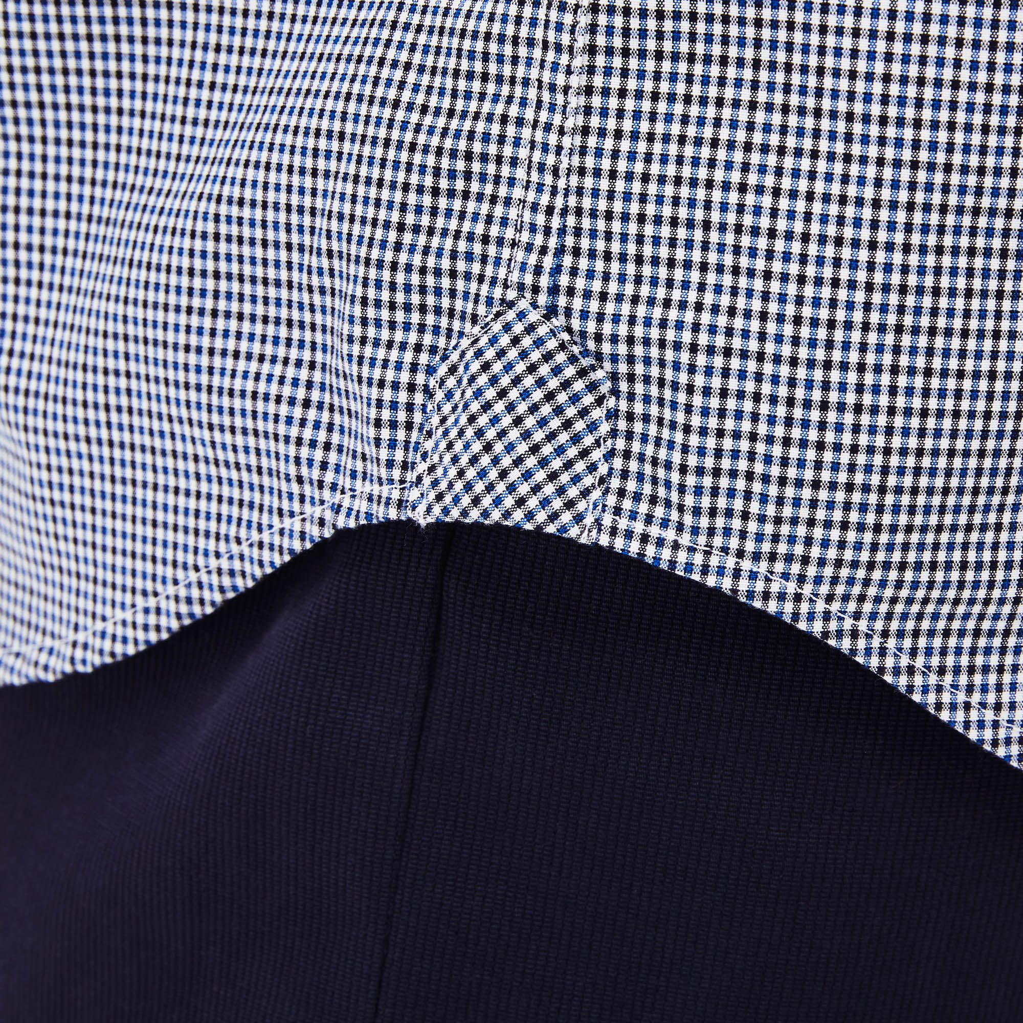 Men's Regular Fit Gingham Cotton Poplin Shirt