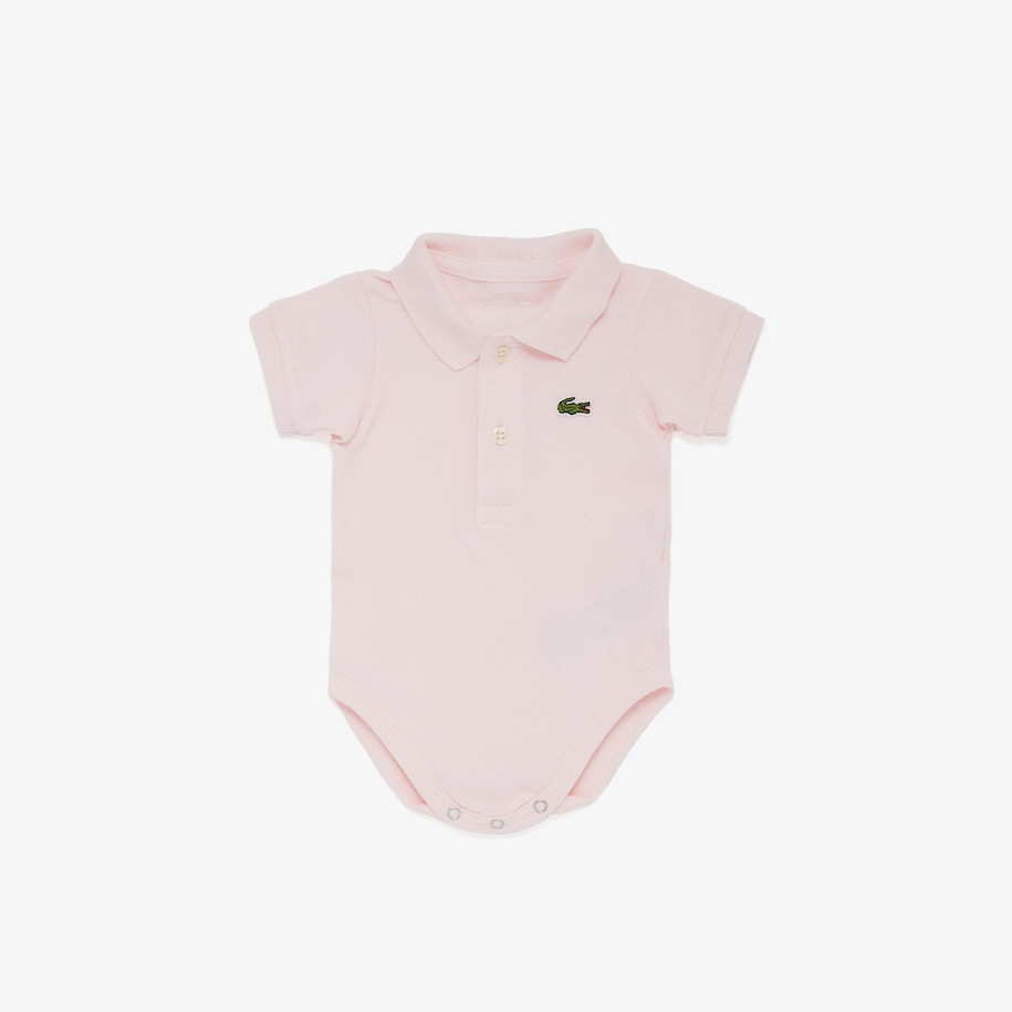 Baby Organic Cotton Piqué Bodysuit In Recycled Cardboard Box Set