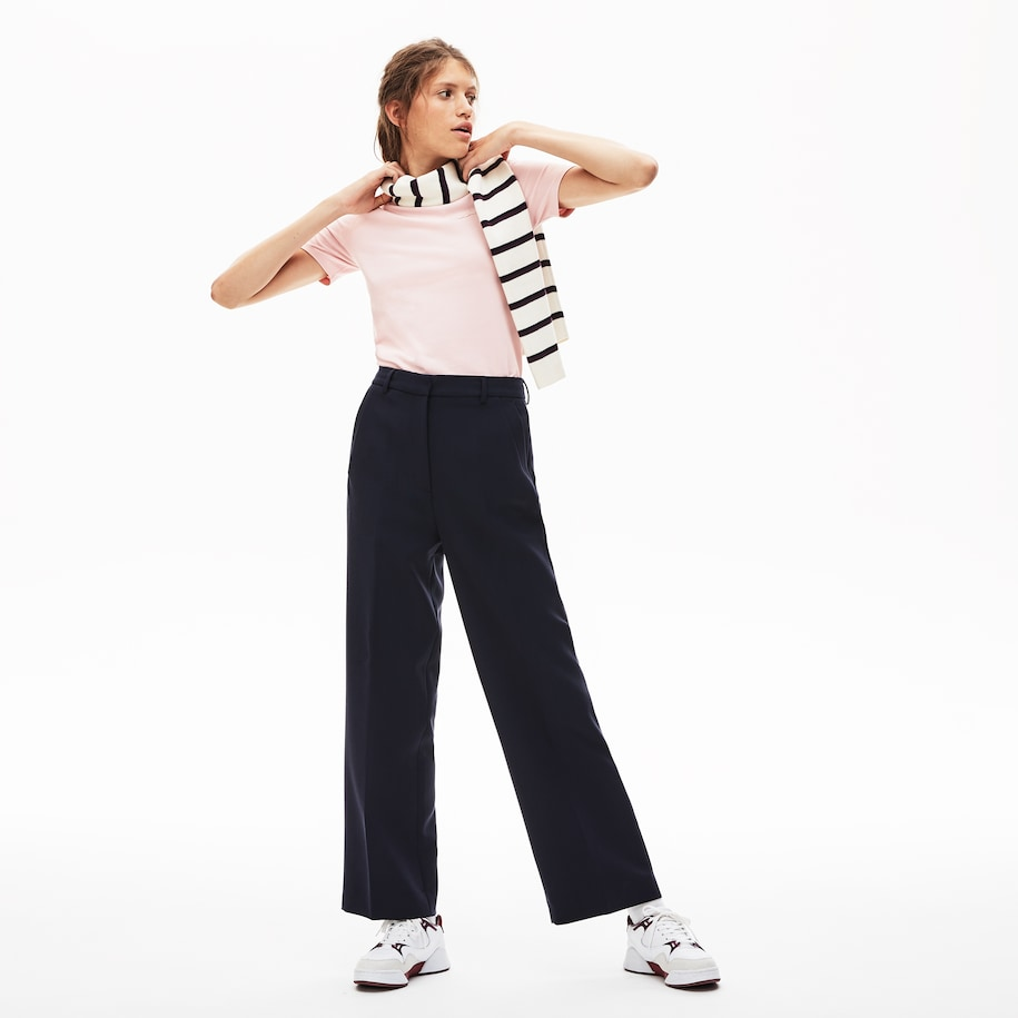 Women's Lacoste LIVE High-Waisted Flared Pants