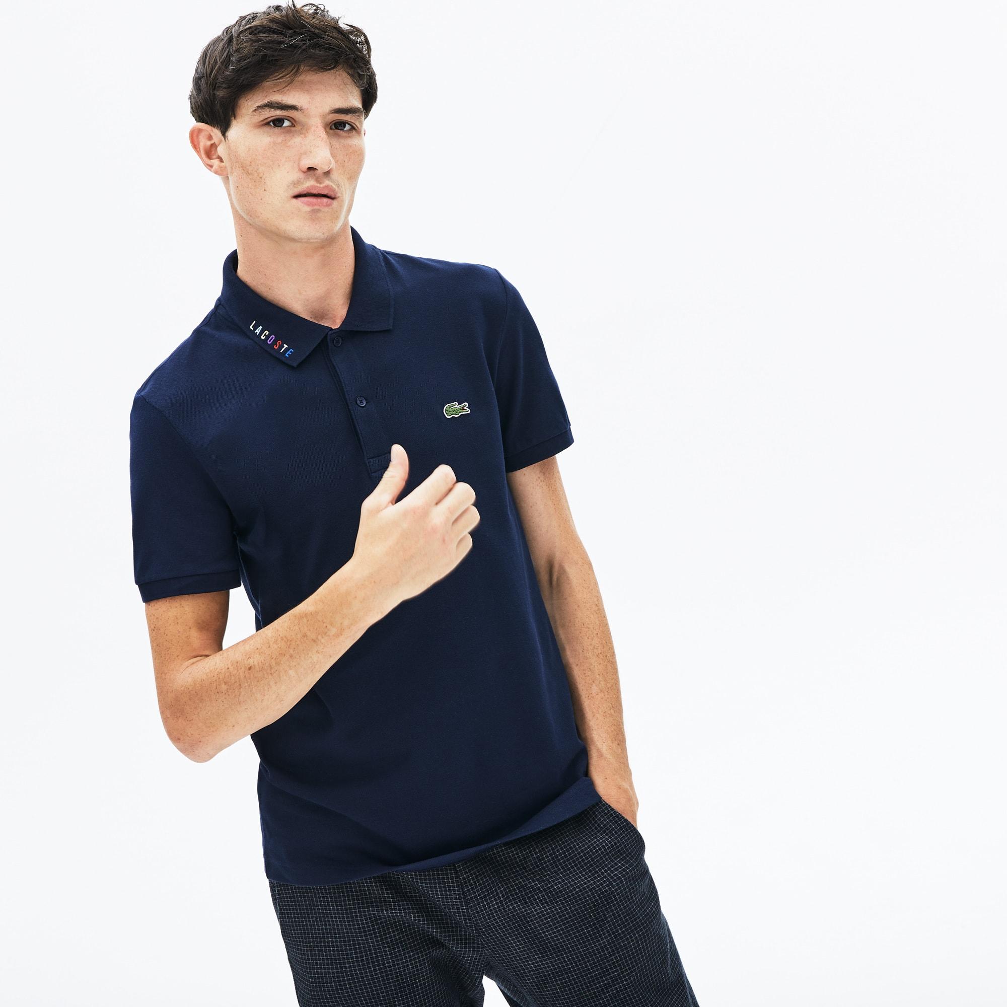 Lacoste Shirt Polo Navy Blue Men/'s Classic Pique Classic Cotton Fit 100/% Elegant