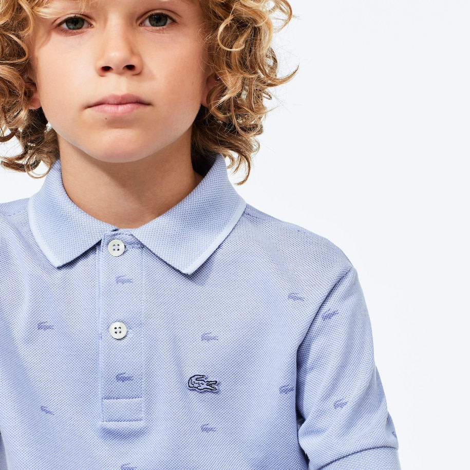 Boy's Printed Lacoste Polo Shirt