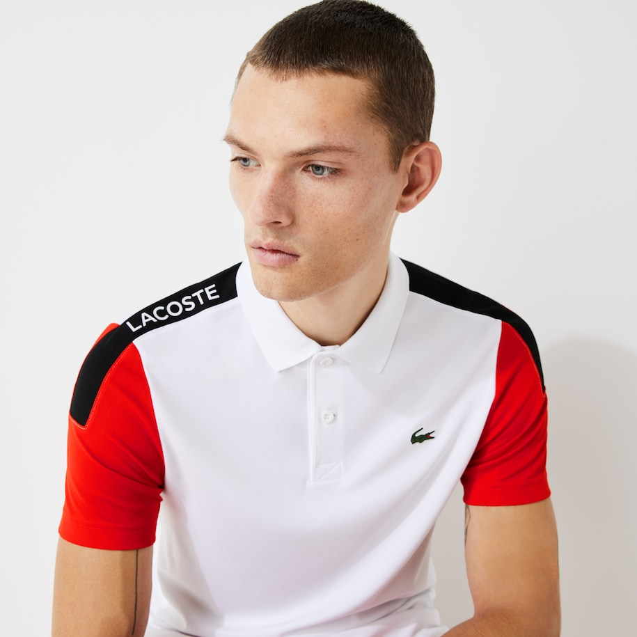 Men's Lacoste SPORT Breathable Resistant Piqué Polo Shirt