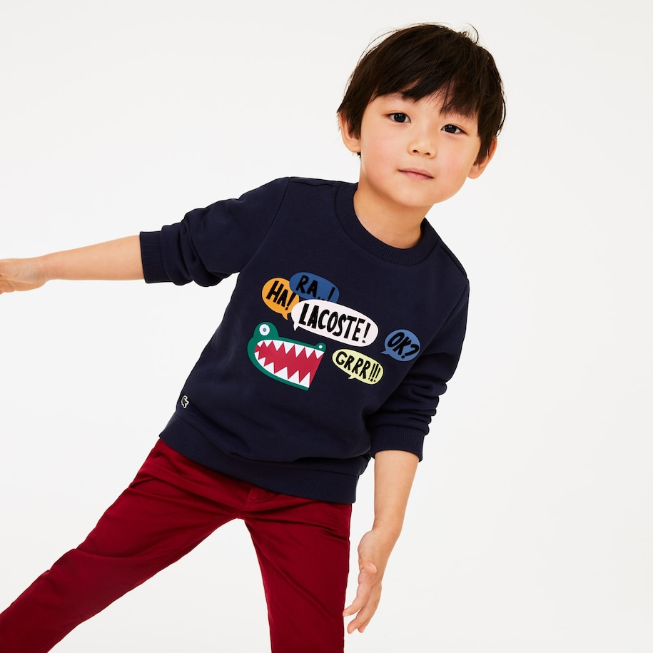 Boys' Fun Croc Pattern Fleece Sweatshirt