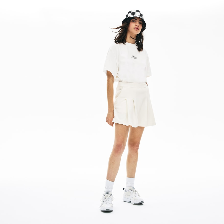 Women's Lacoste LIVE Cotton Piqué Pleated Shorts