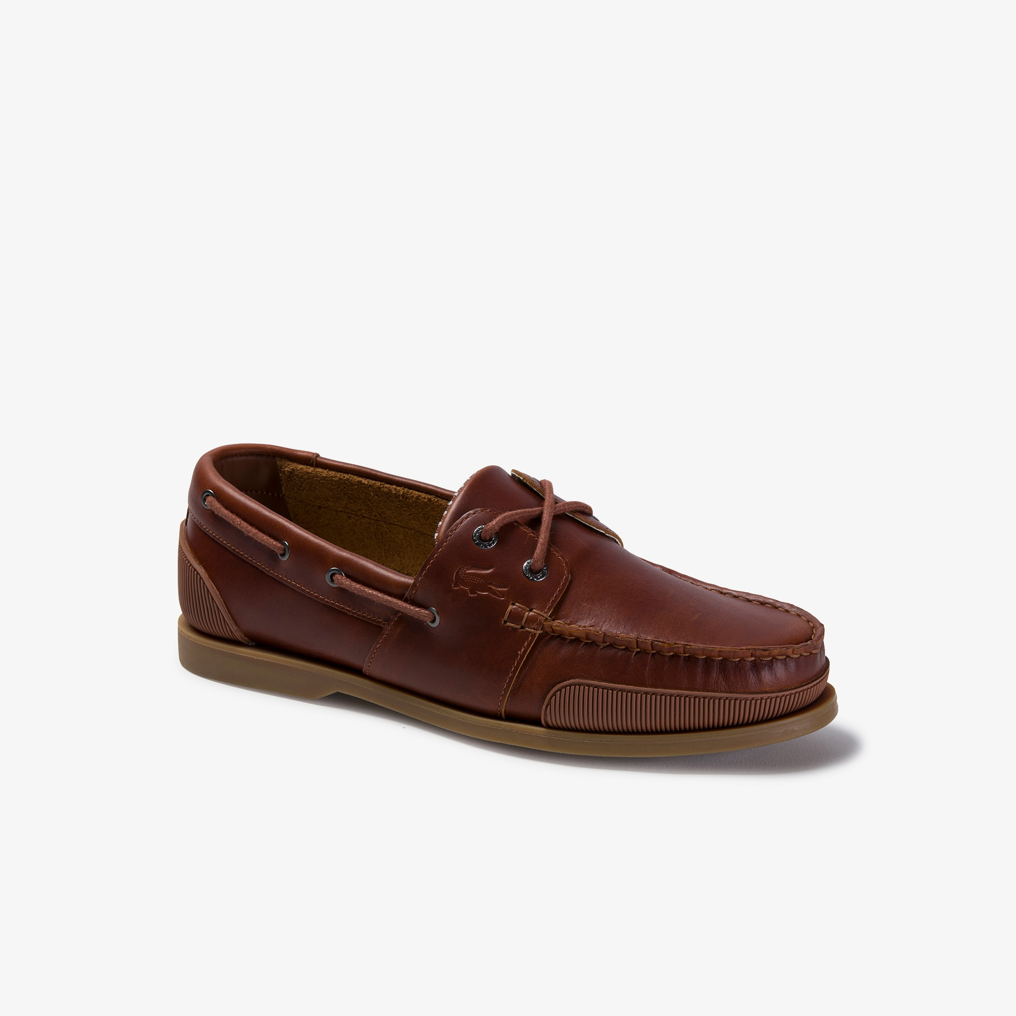 Nautic Soft Leather Boat Shoes | LACOSTE