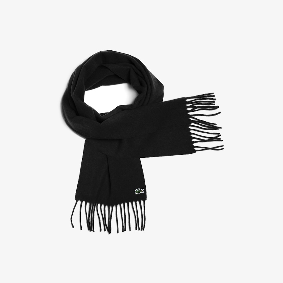 Men's Fringed Wool And Cashmere Scarf